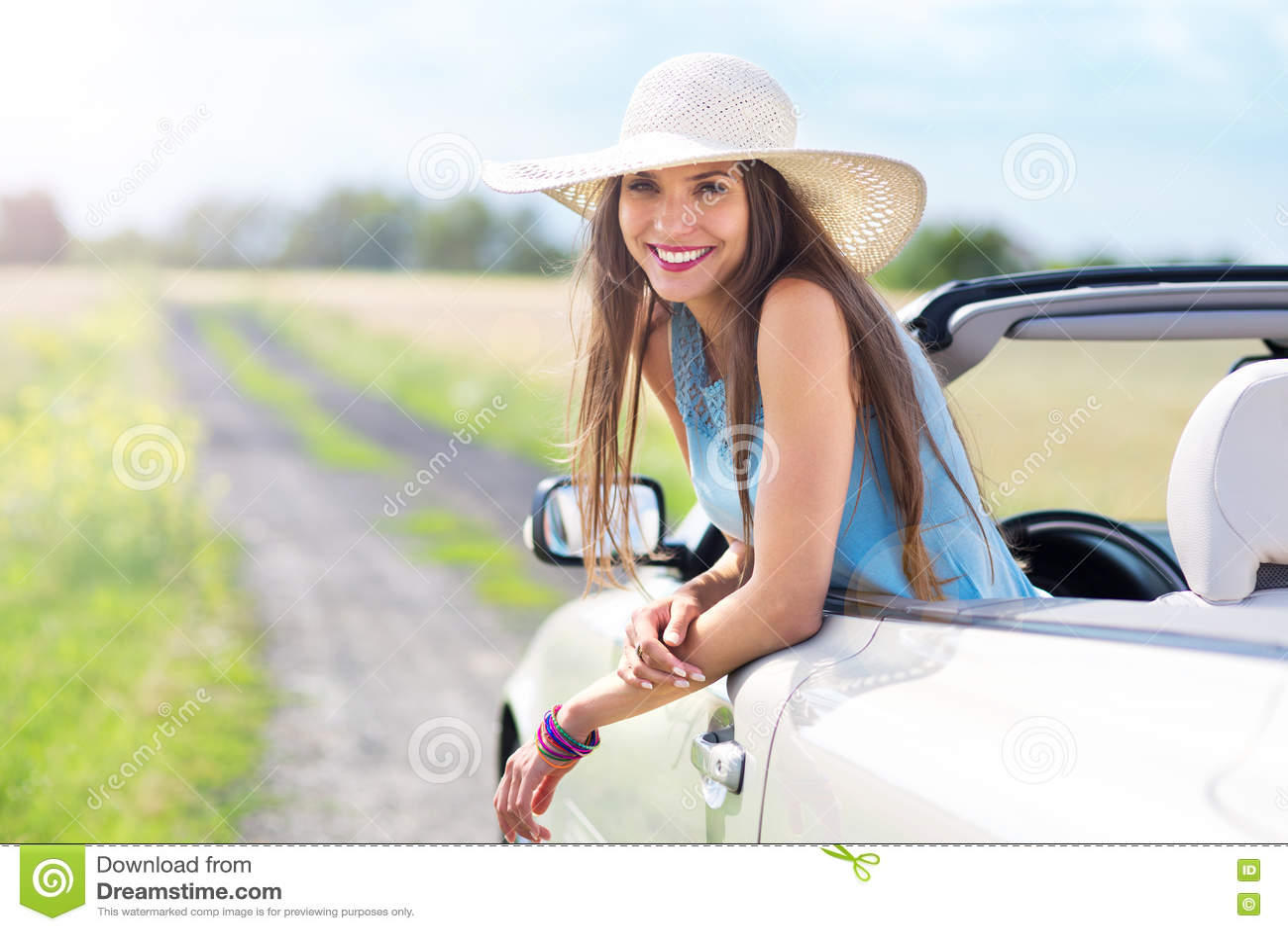 Mulher no convertible
