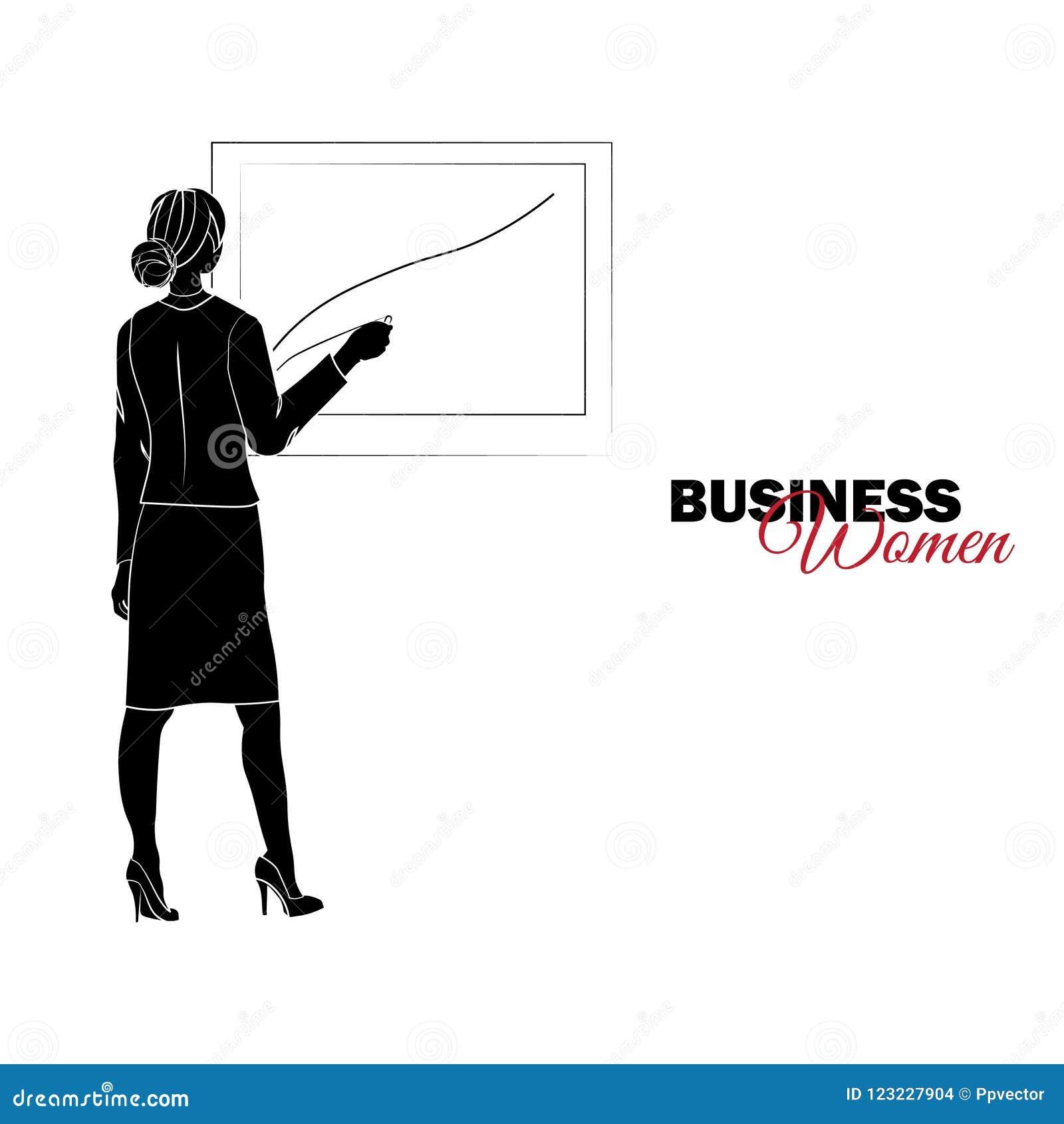 Mulher no terno de negócio A mulher de negócios tira uma carta