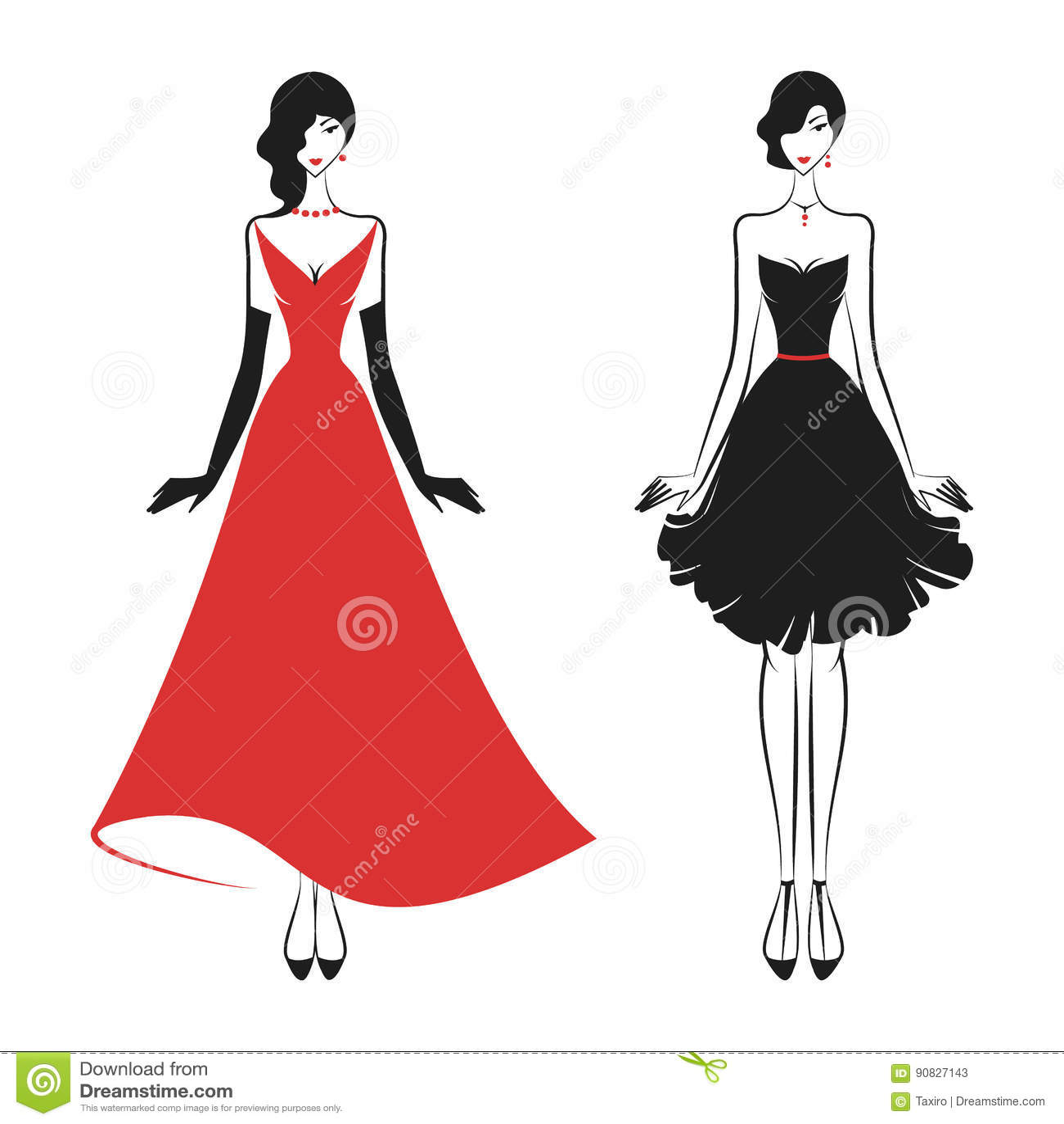 Mulher no vestido de bola