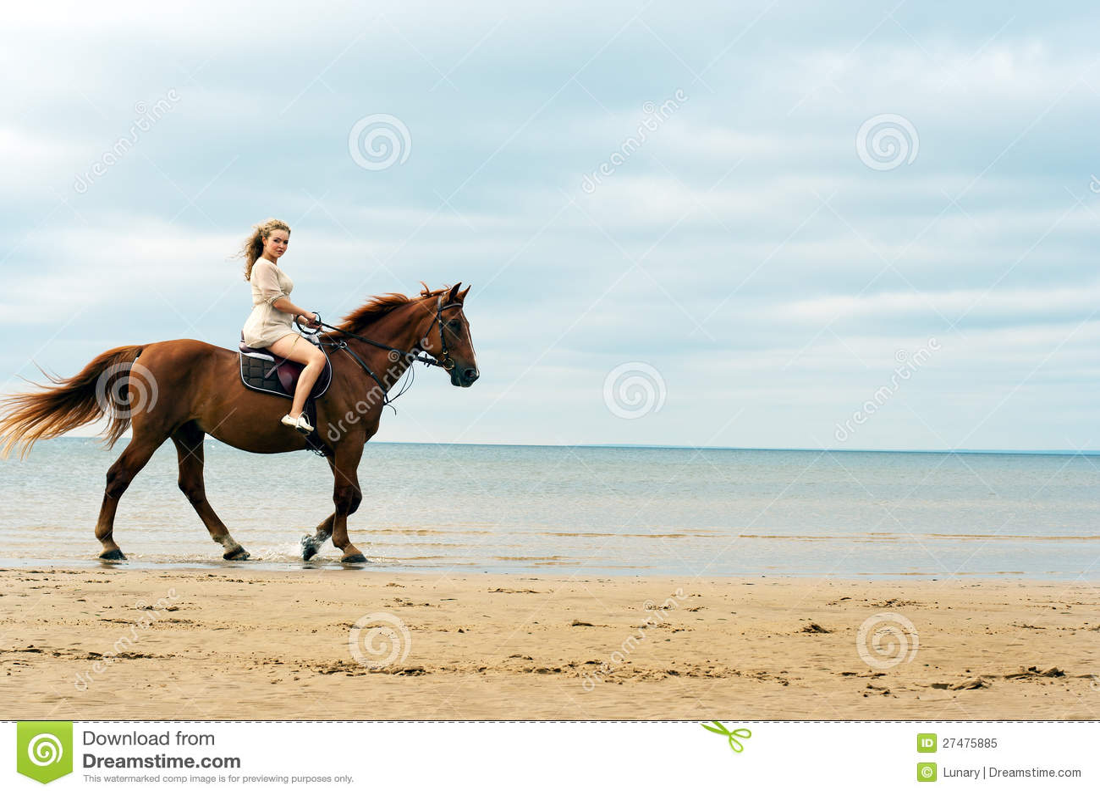 Mulher nova em um cavalo