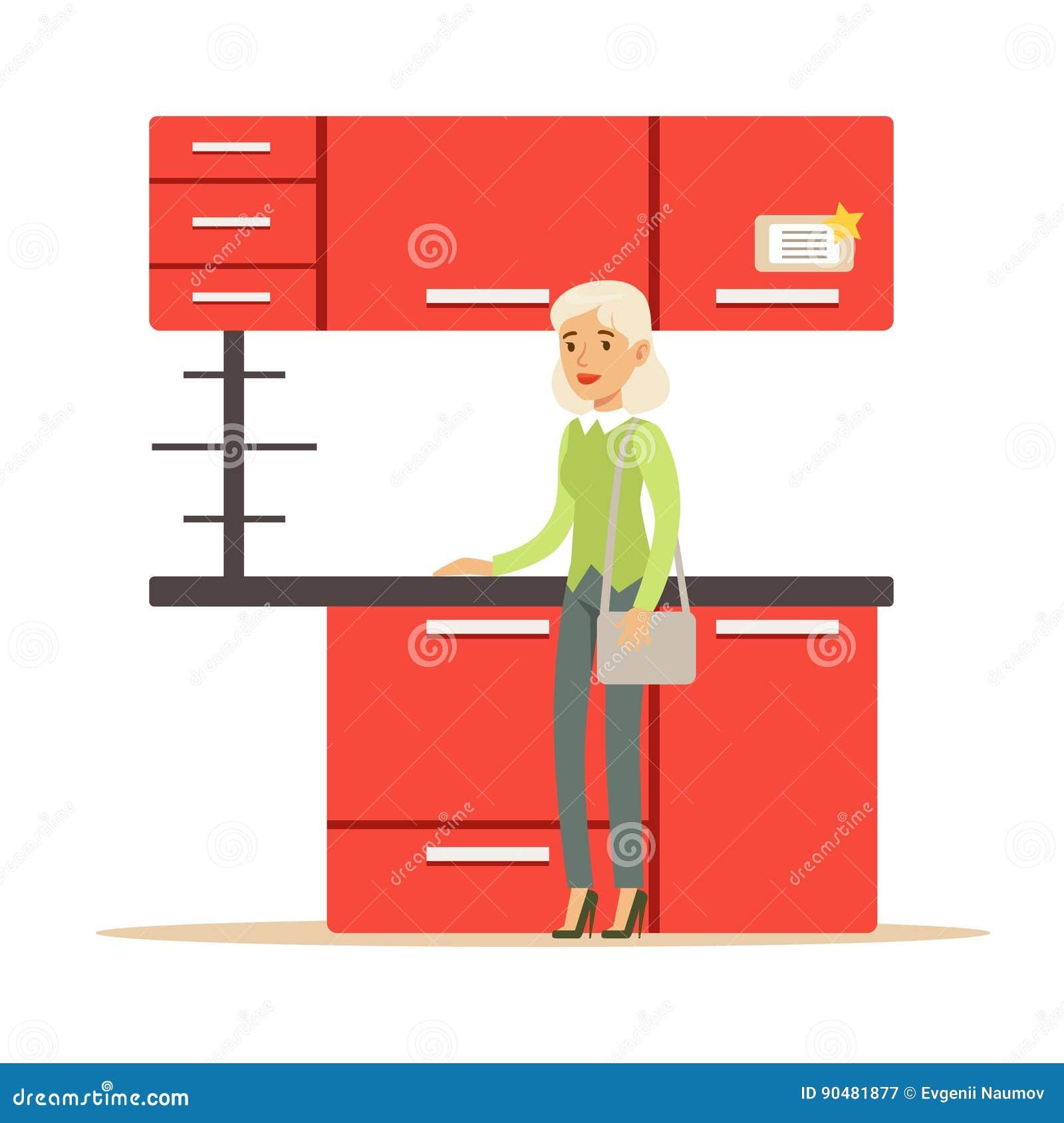 b6e6edc97 Mulher Que Compra O Grupo Vermelho Da Cozinha