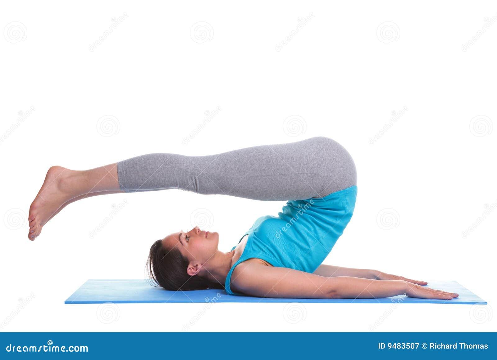Mulher que faz a ioga