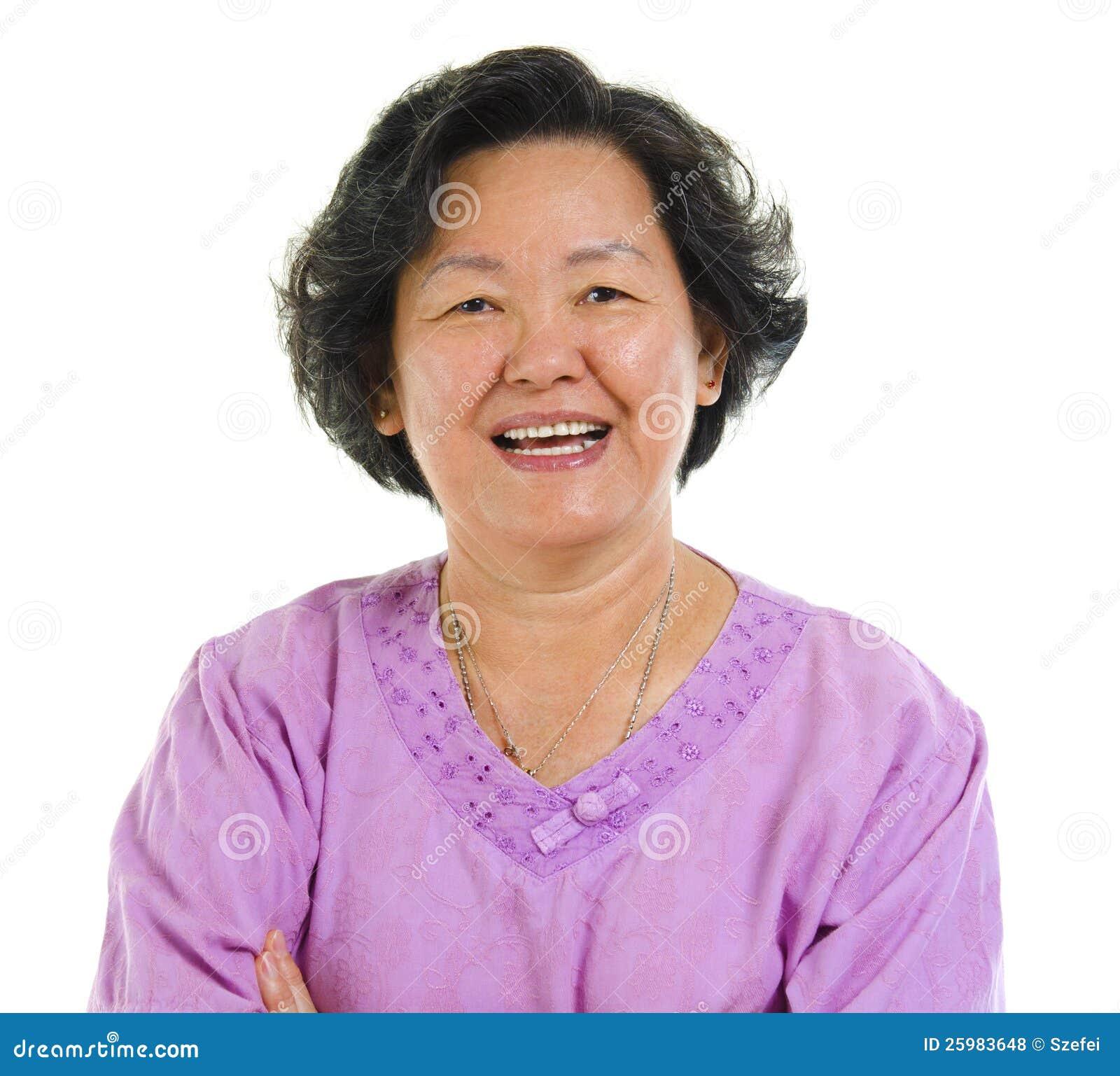 Mulher sênior asiática