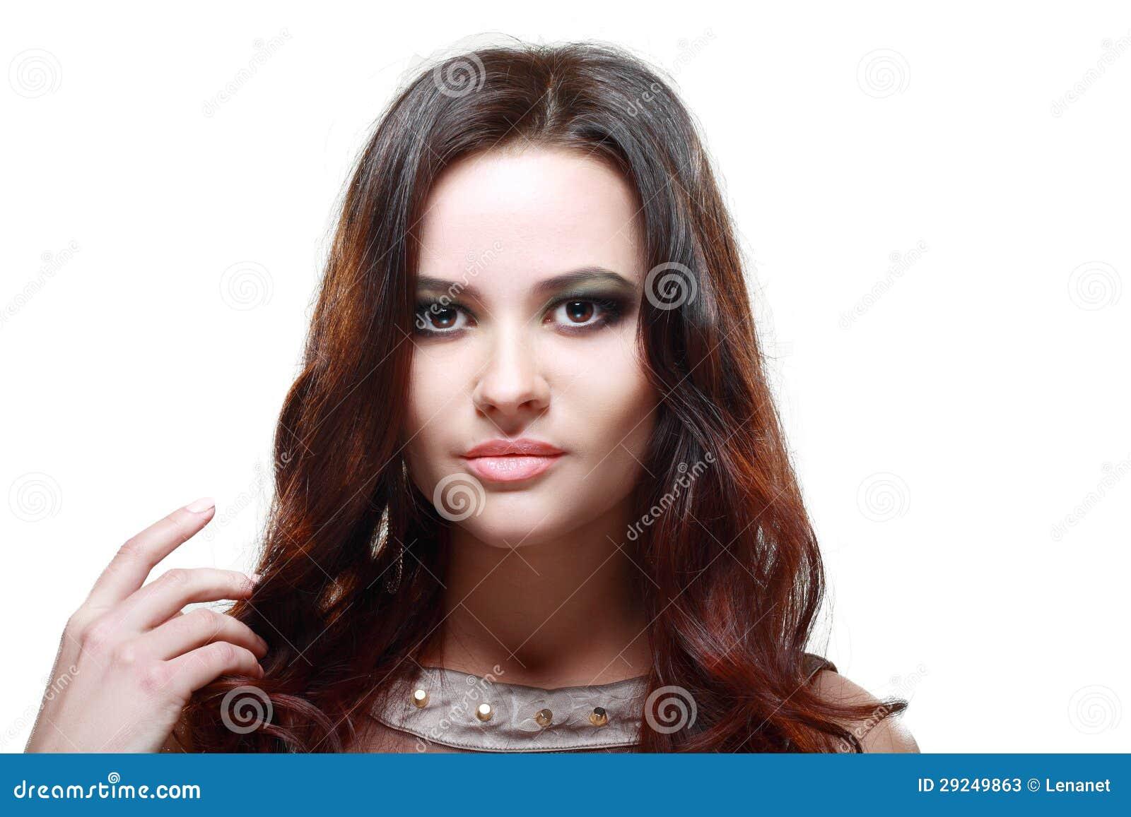 Download Mulher triguenha bonita imagem de stock. Imagem de brilhante - 29249863