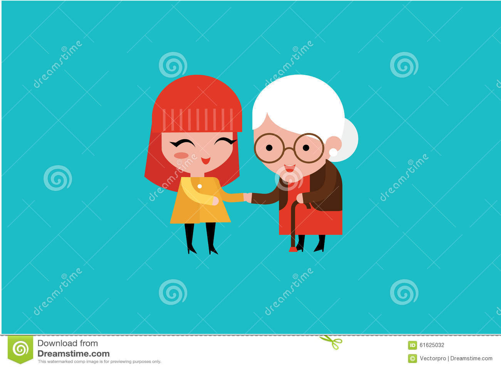 Mulher voluntária dos jovens que importa-se com a mulher idosa