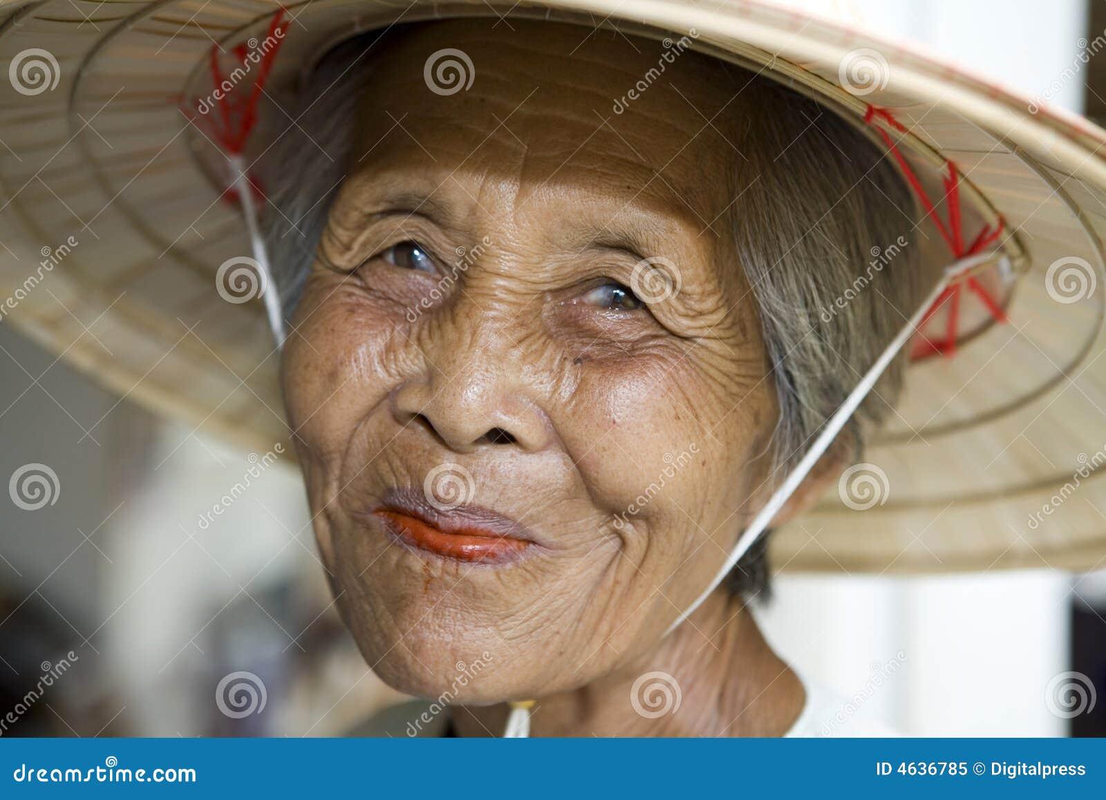 Mulheres asiáticas idosas