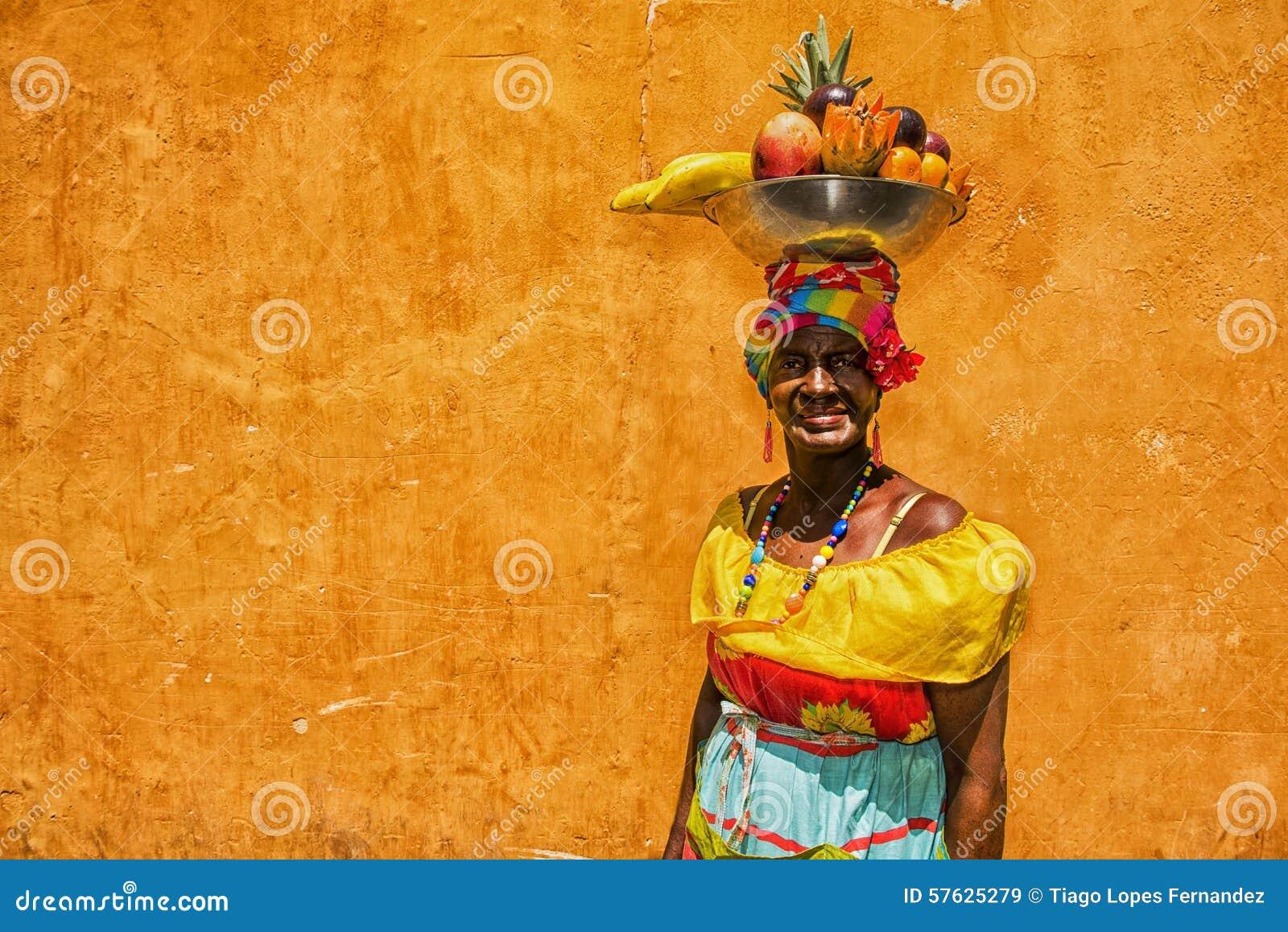 Mulheres colombianas em Cartagena de Índia