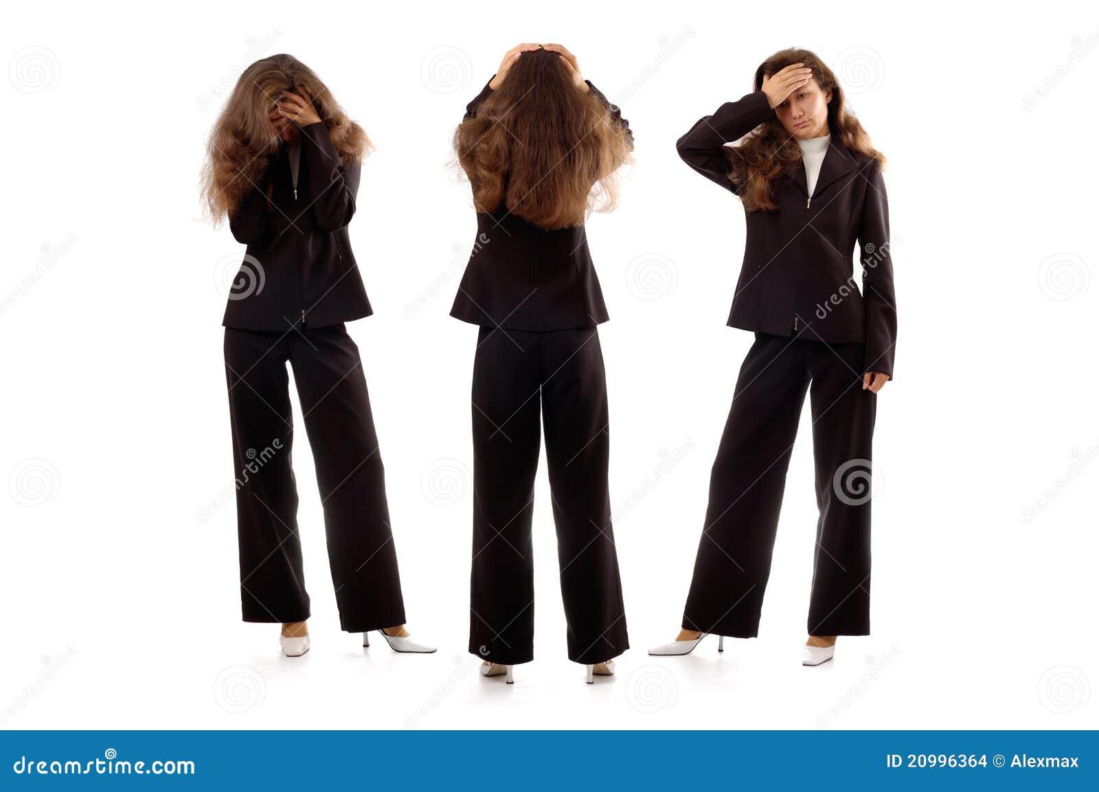 Mulheres de negócios que expressam emoções negativas