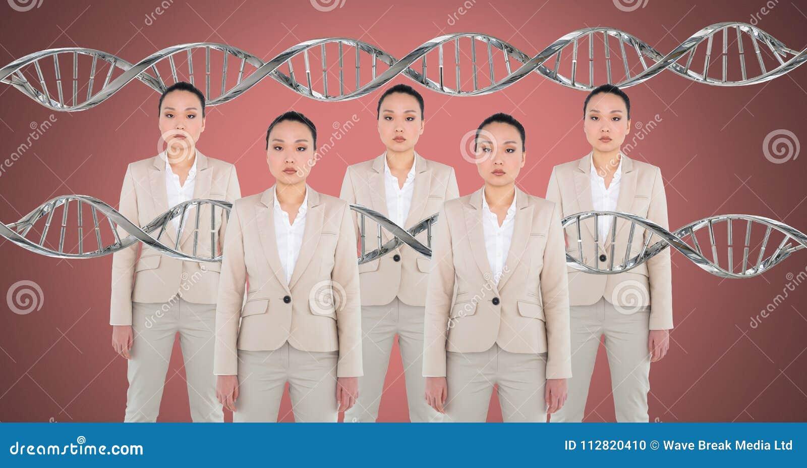 Mulheres do clone com ADN genético