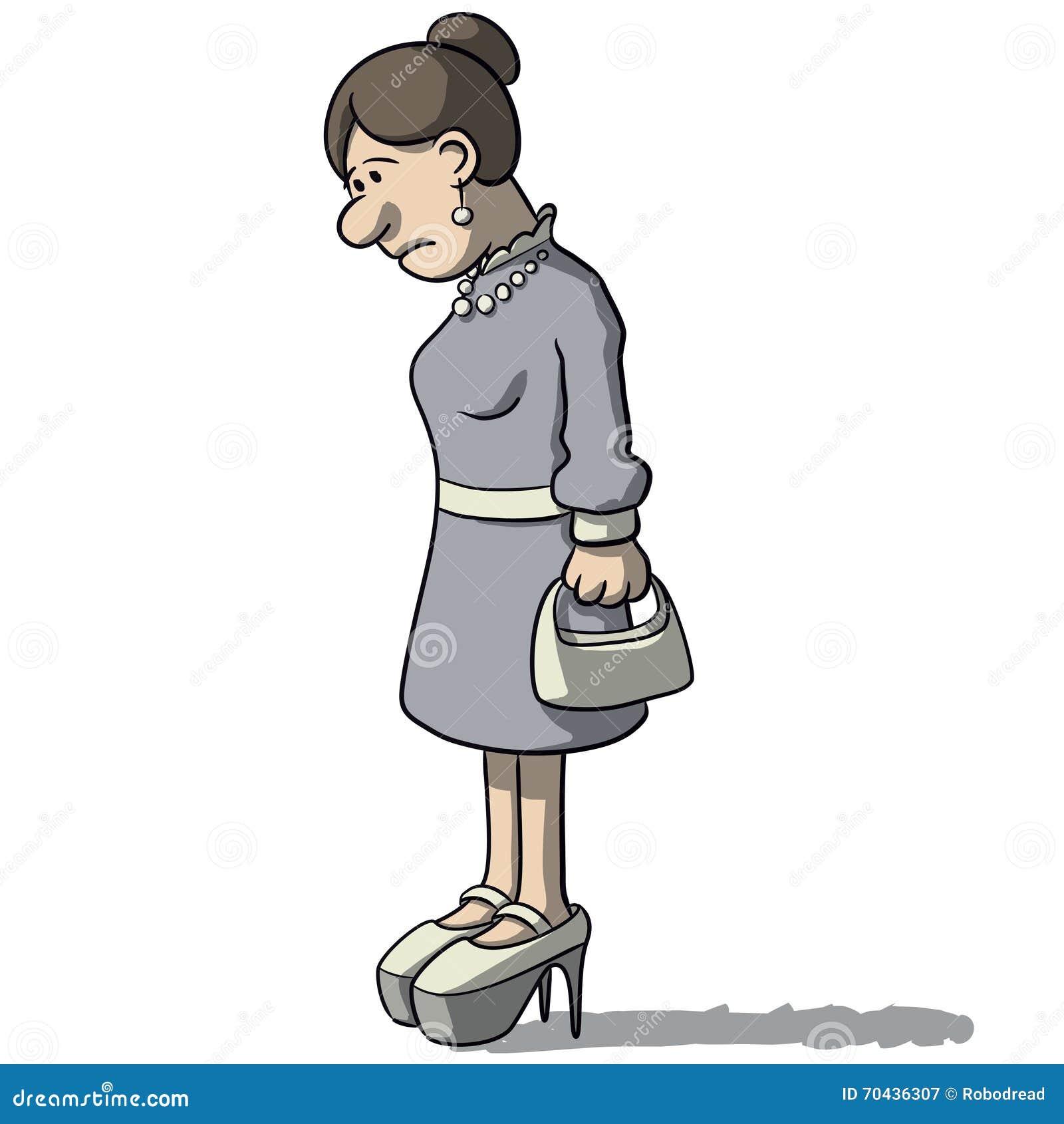 Mulheres Dos Desenhos Animados Tristes E Deprimidas Ilustracao Do