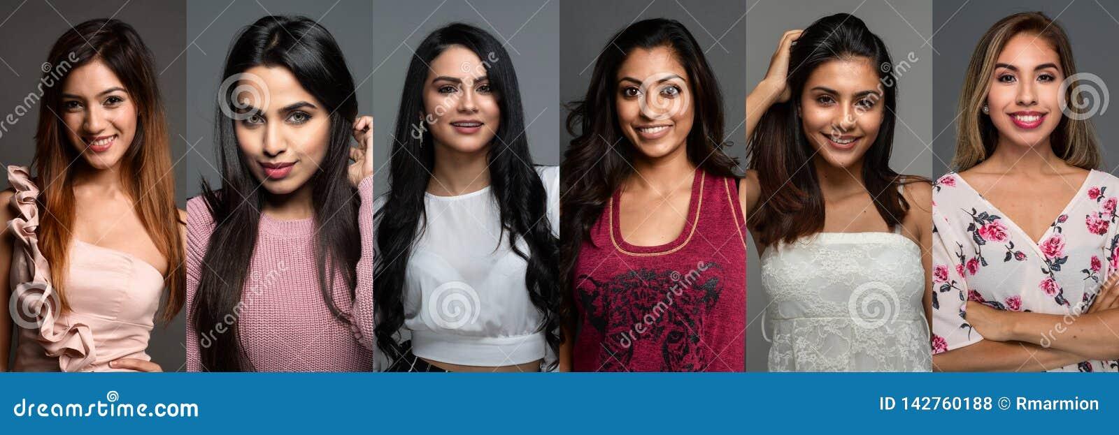 Mulheres indianas em um grupo