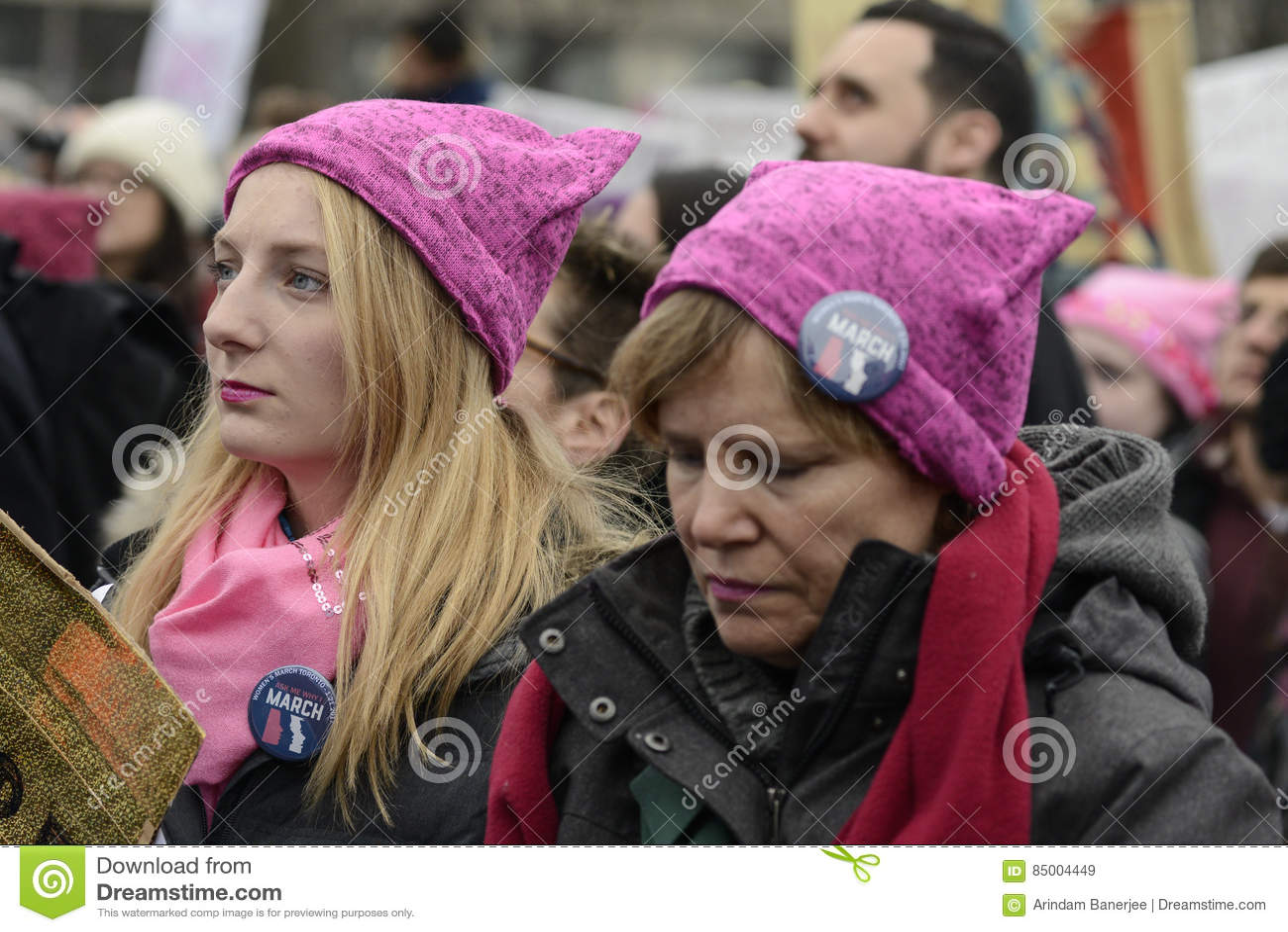 Mulheres março em Toronto