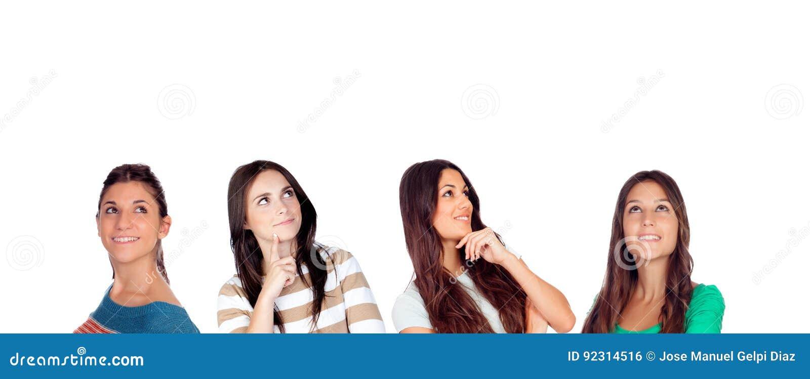 Mulheres pensativas