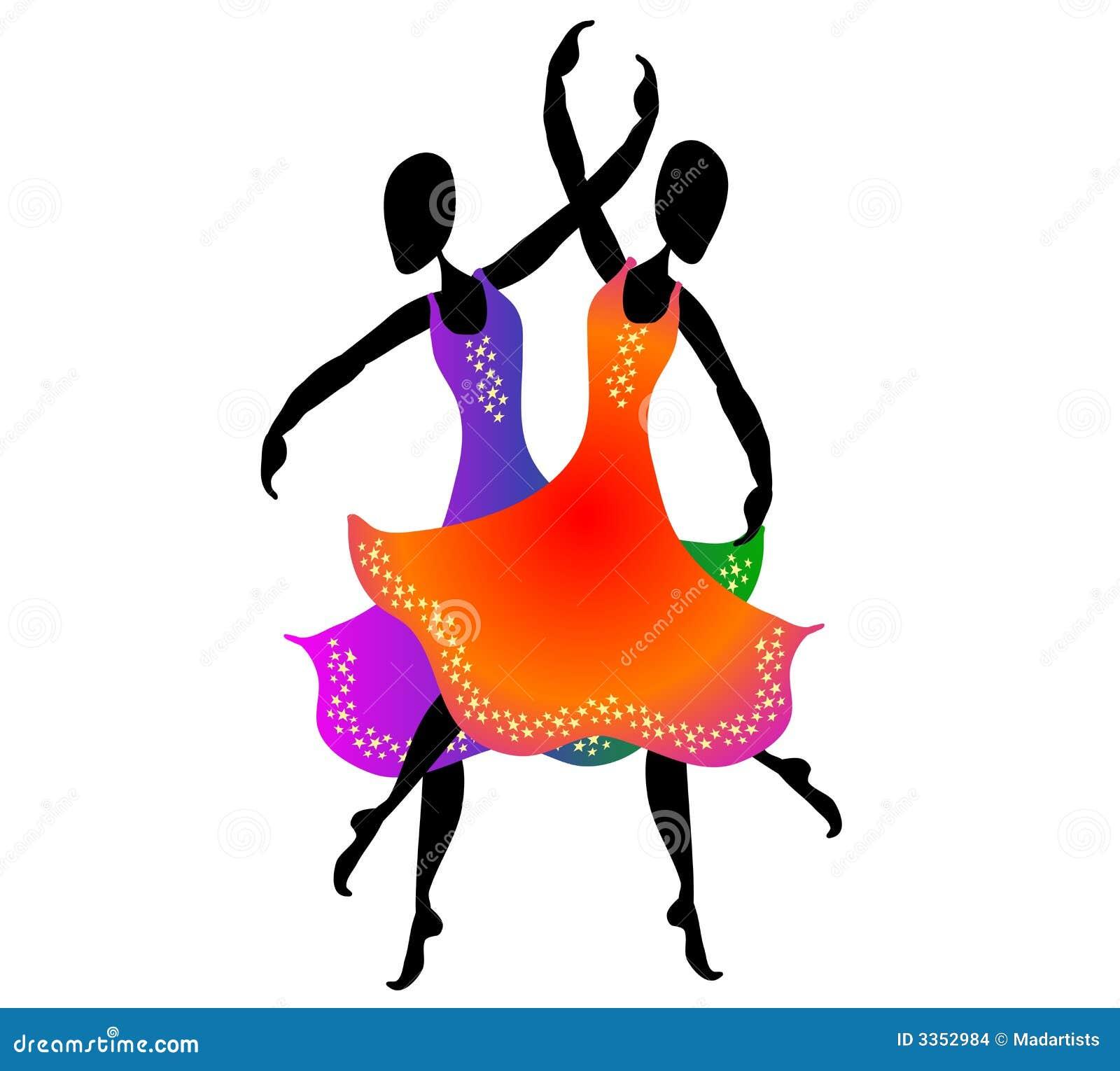 Mulheres que dançam a arte de grampo 2