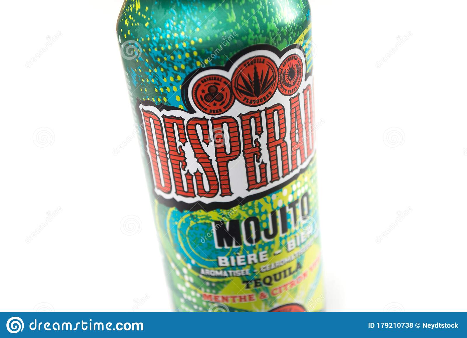 Desperados Beer Flavored Mojito Cocktail In A Metallic Can On White Background Editorial Stock Photo Image Of Bottles Bier 179210738