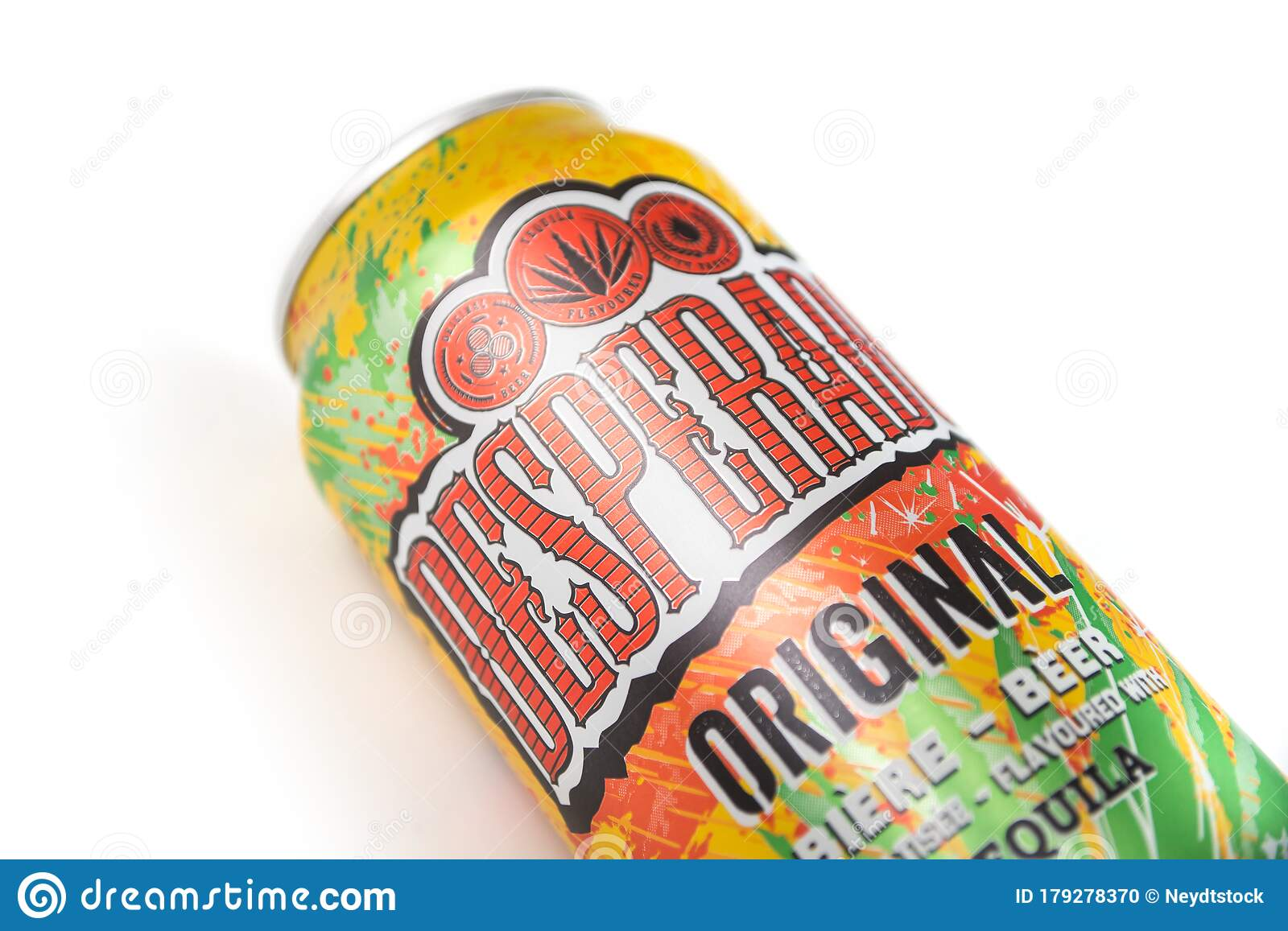 Desperados Beer Flavored Tequila Cocktail In A Metallic Can On White Background Editorial Image Image Of Flavored Cocktail 179278370