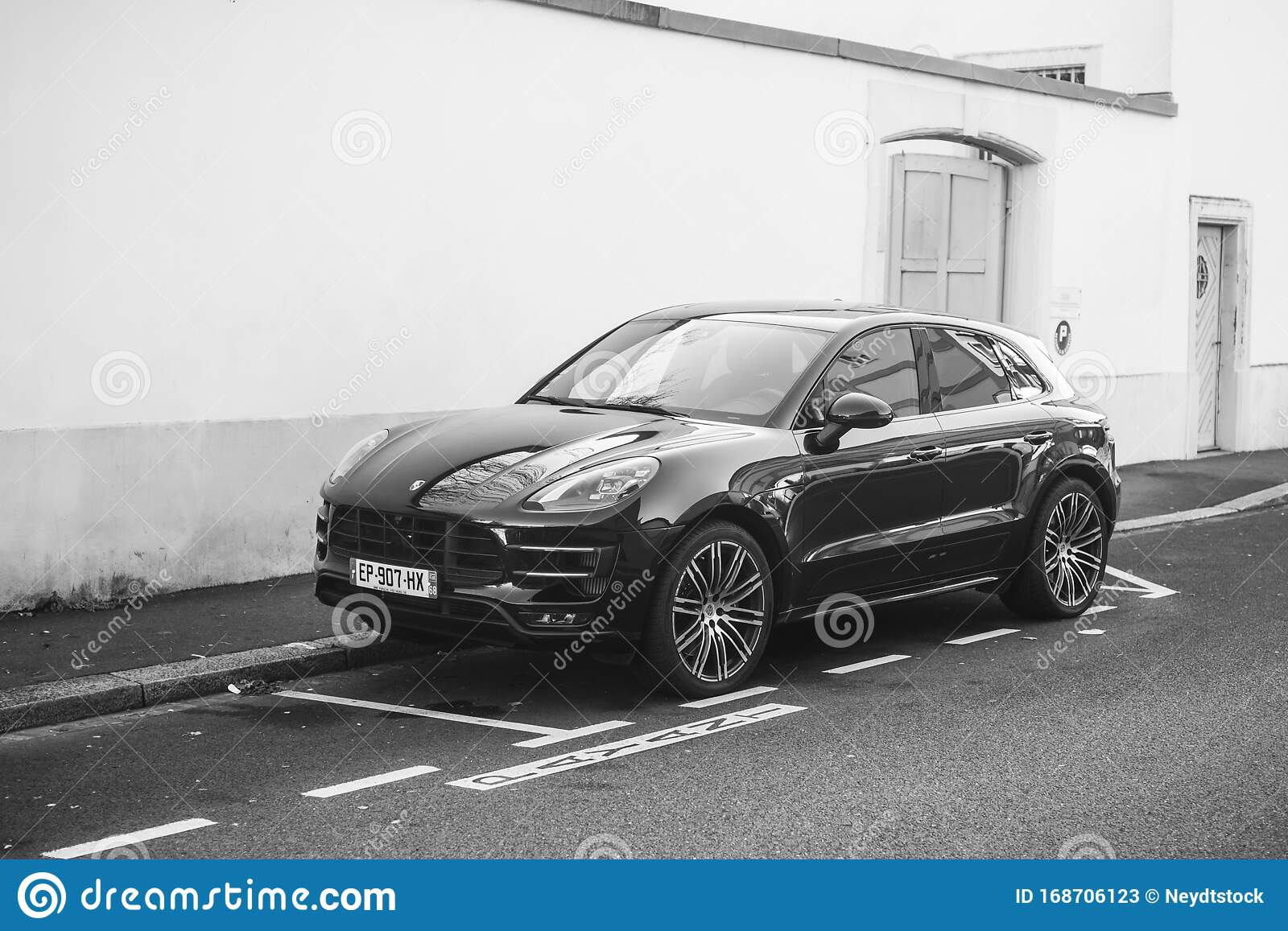 Black Porsche Macan Turbo Parked In The Street Editorial Stock Photo Image Of Macan Germany 168706123