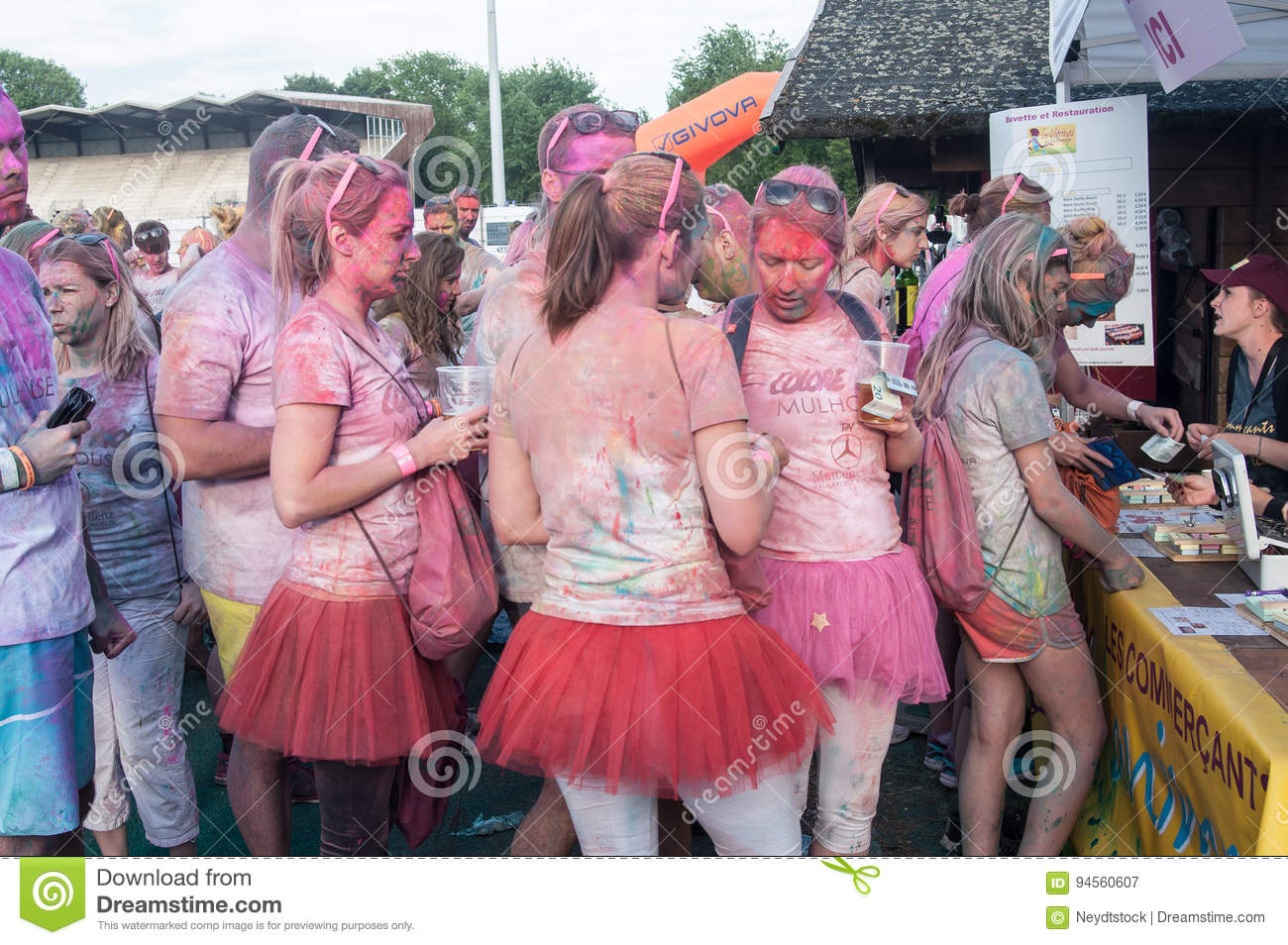 People at waiting for drinking Colore Mulhouse 2017