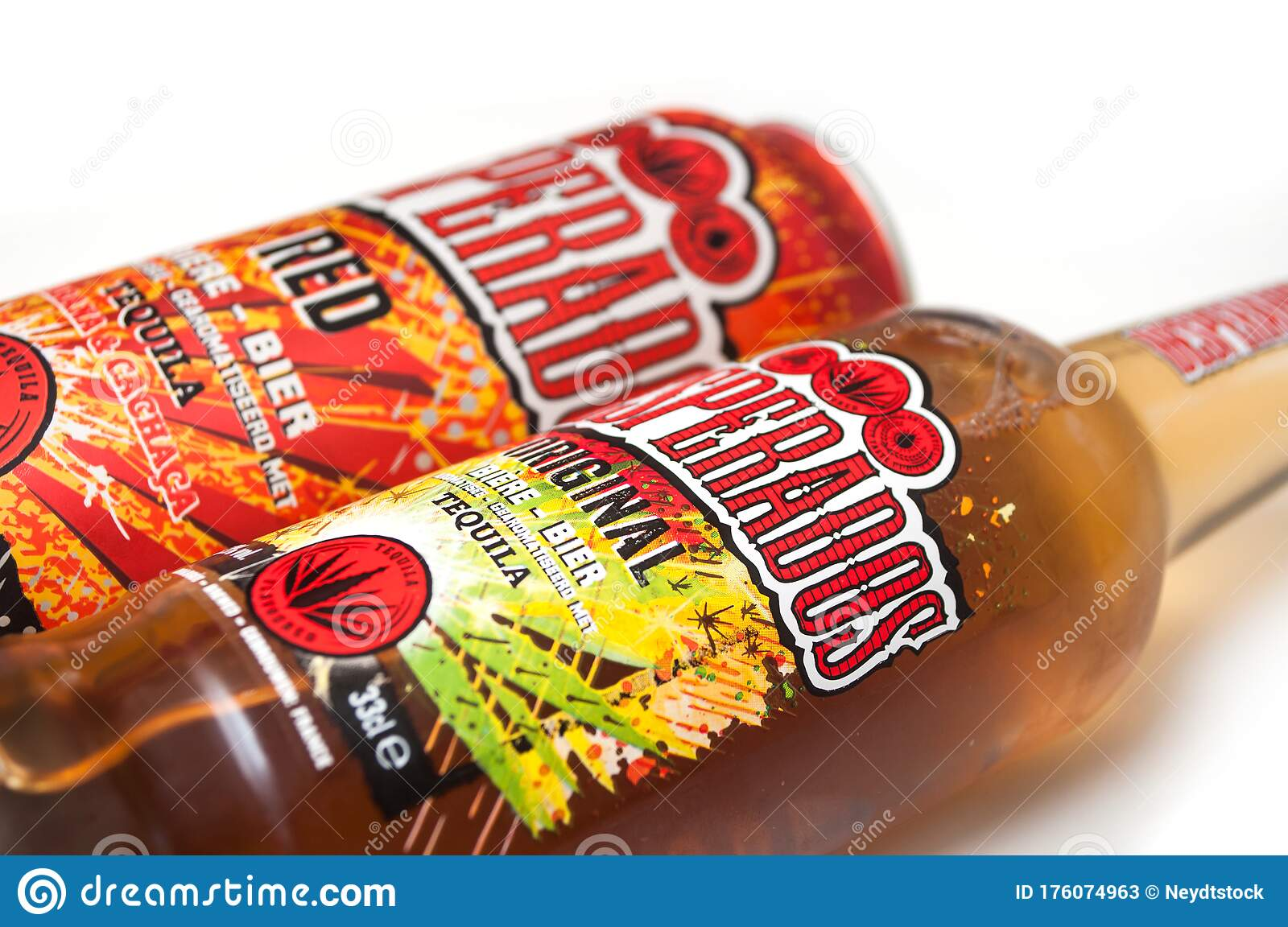 Desperados Beer Can On White Background Desperados Is The Famous Brand Of Mexican Beer With Tequila Editorial Stock Photo Image Of Famous Bottle 176074963