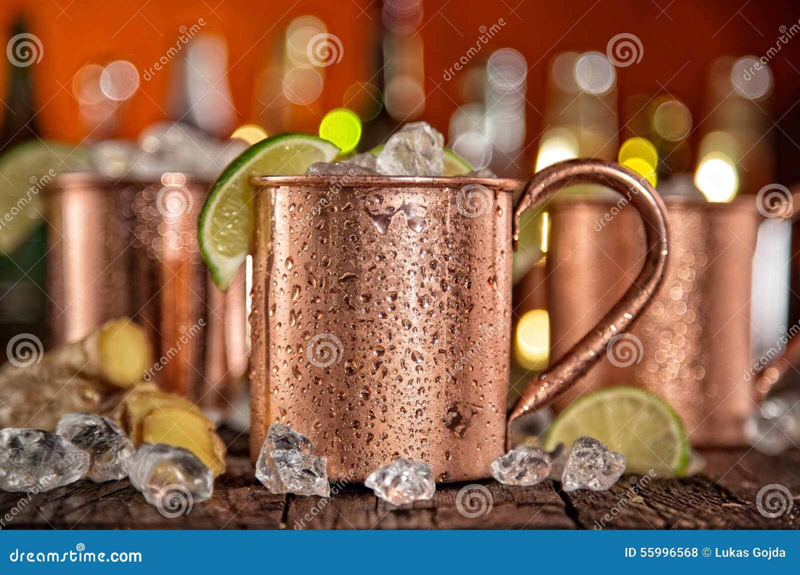 Muli freddi di Mosca - Ginger Beer, calce e vodka