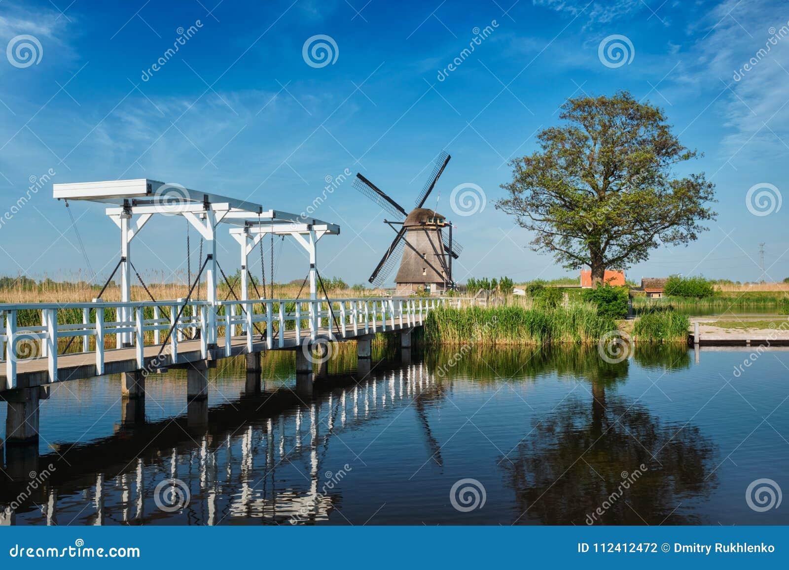 Mulini a vento a Kinderdijk in Olanda netherlands