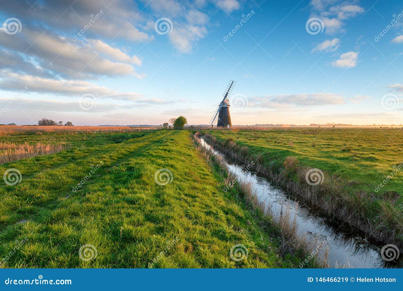 Mulino a vento di Halvergate in Norfolk