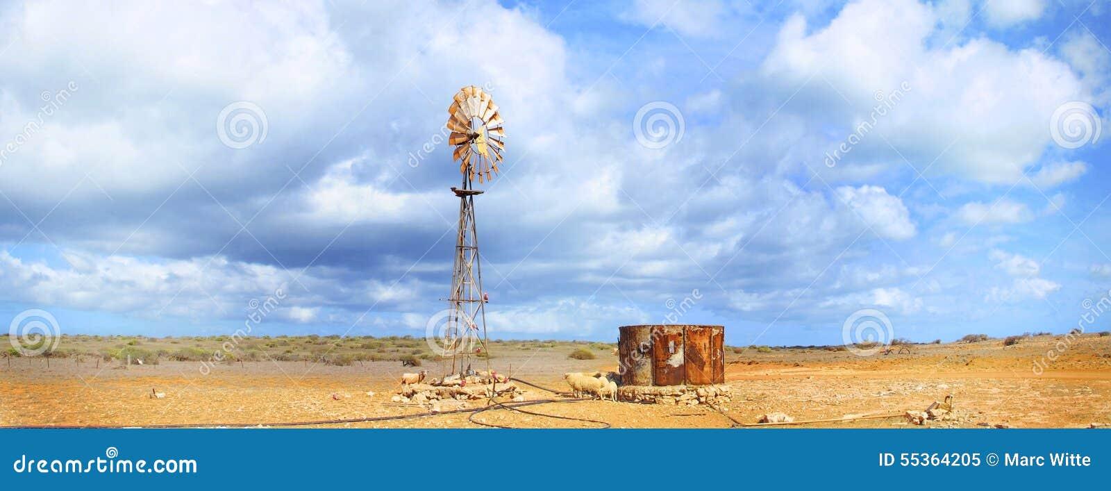 Mulino a vento, entroterra, Australia