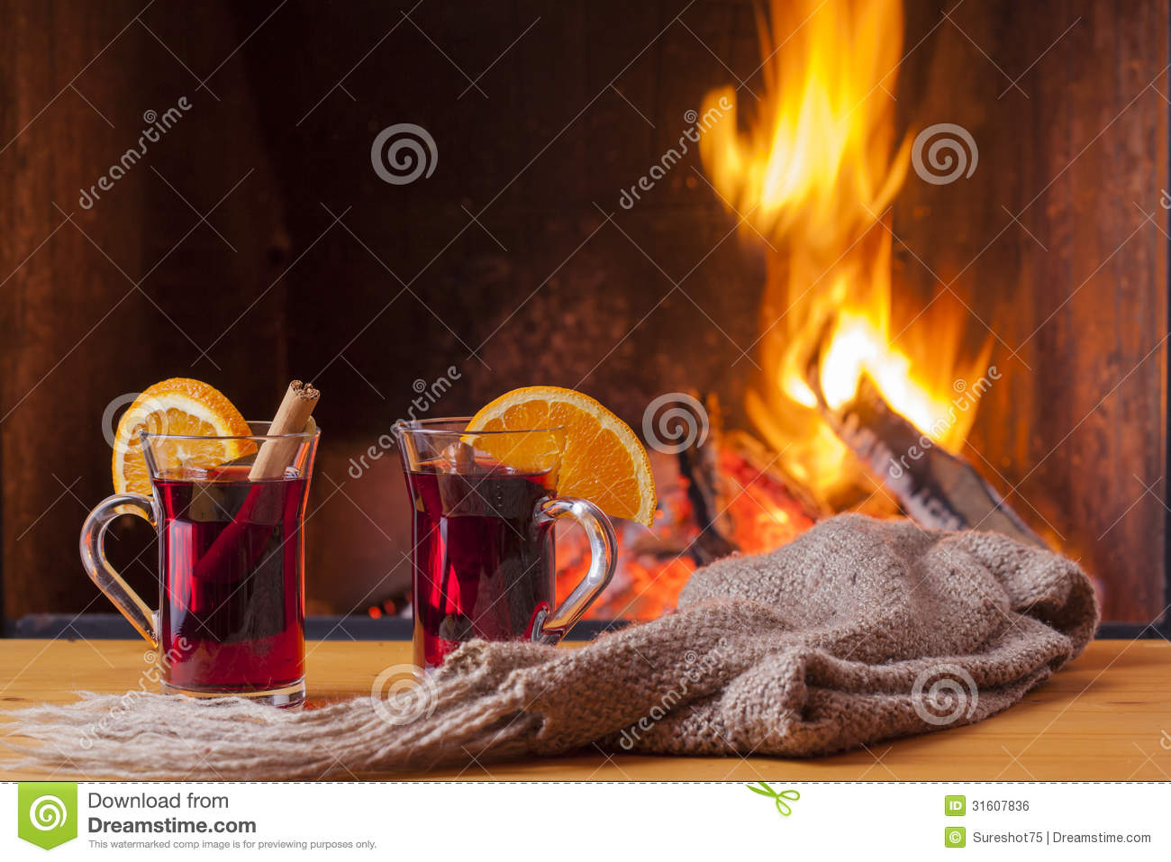 mulled wine romantic fireplace stock images 148 photos