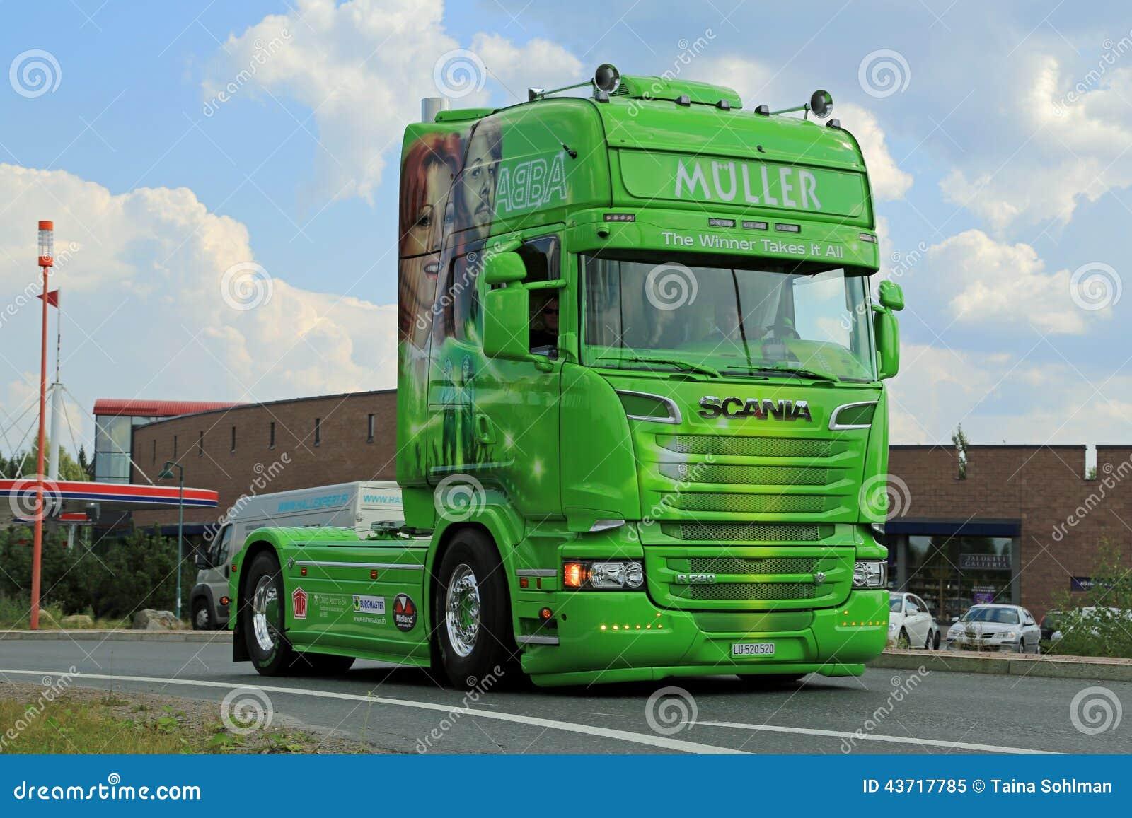 Muller ABBA Scania R520 de Winnaar neemt het allen