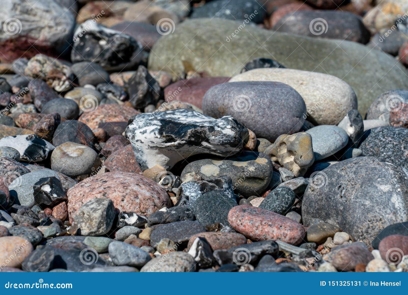 Multi покрашенные камешки на пляже