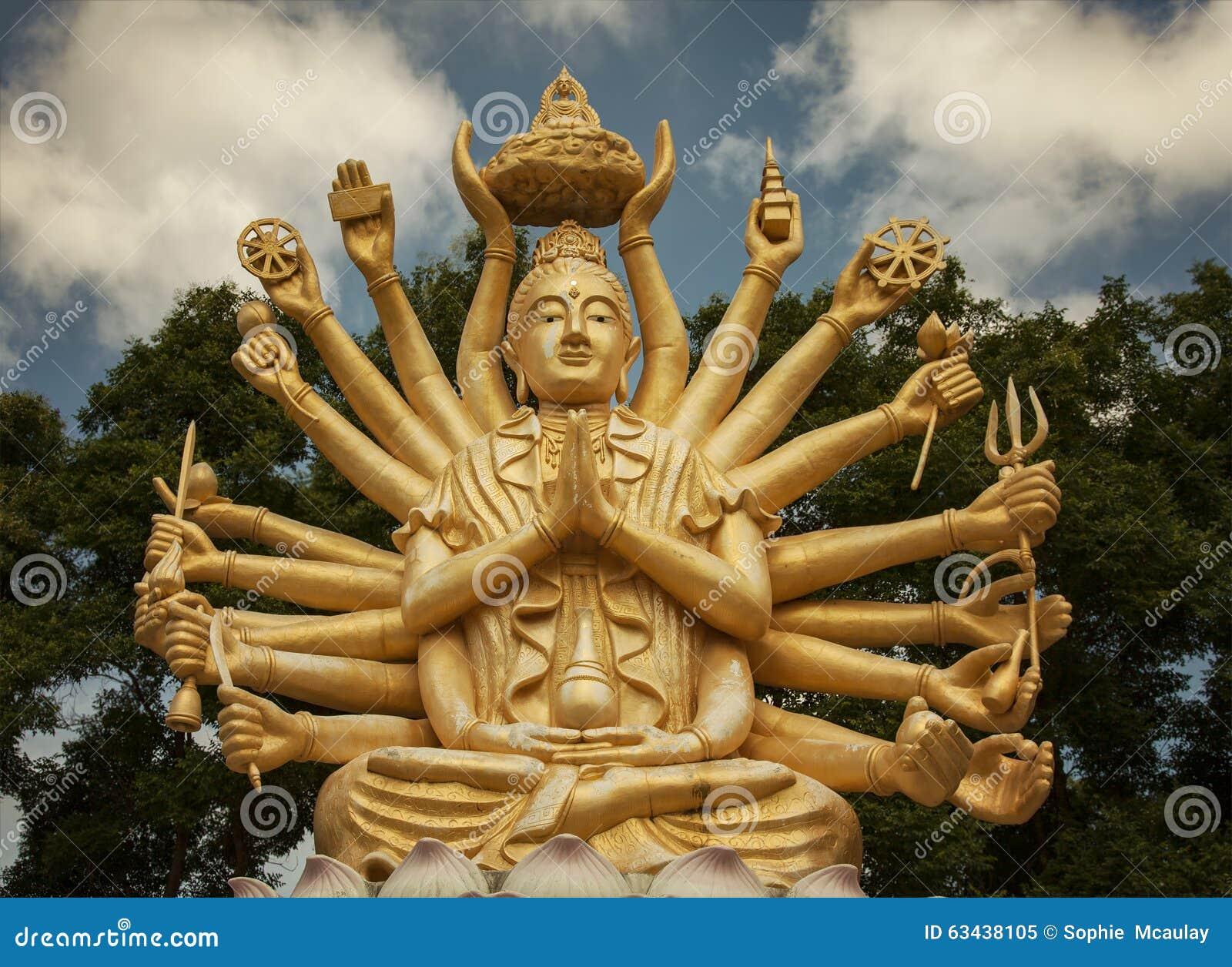 Multi Armed Buddha Stock Photo Image 63438105