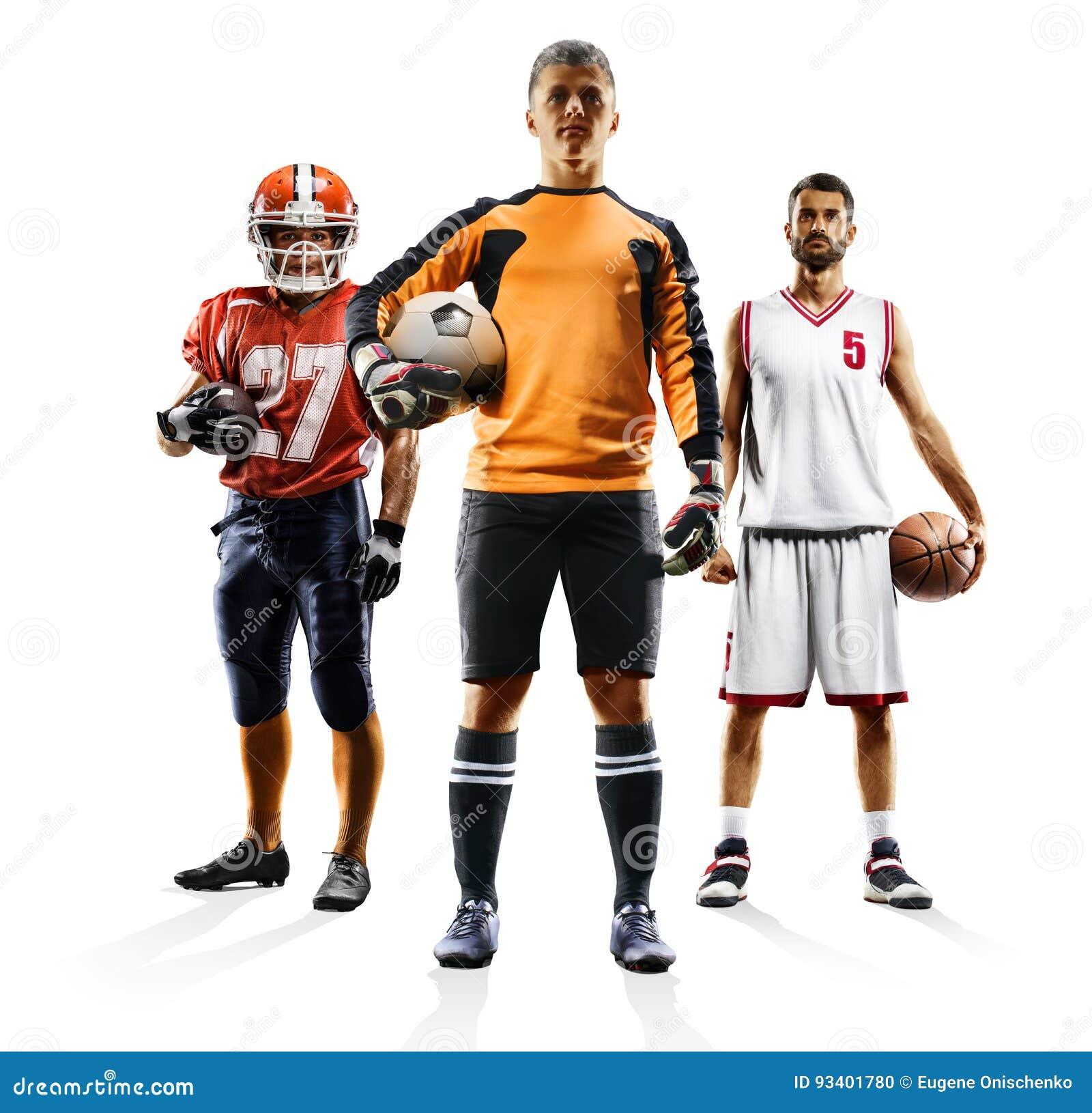 Multi bascketball di football americano di calcio del collage di sport