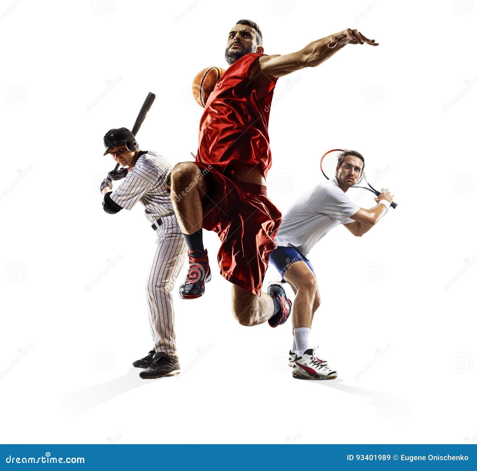 Multi bascketball do tênis do basebol da colagem do esporte