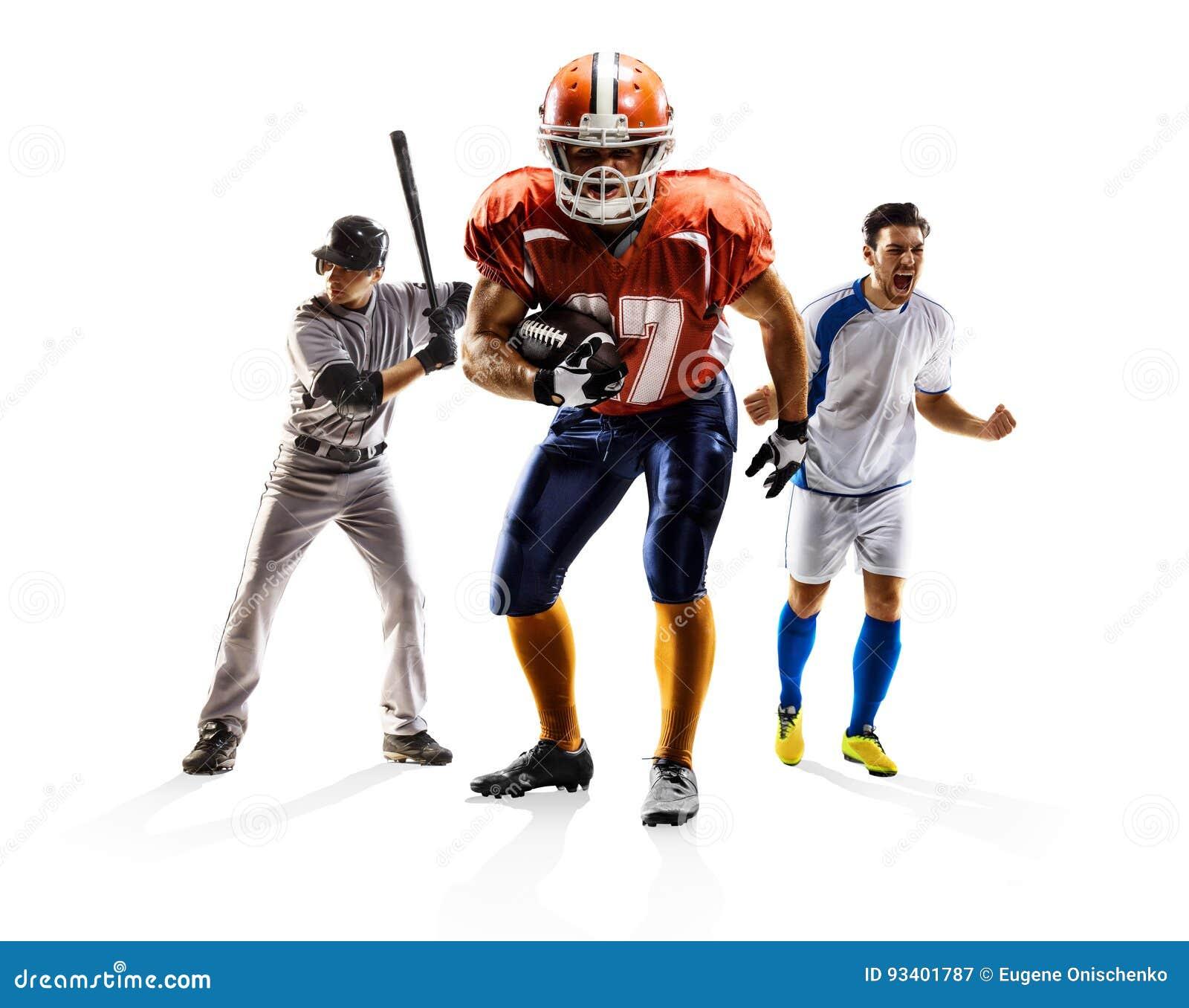 Multi baseball di football americano di calcio del collage di sport