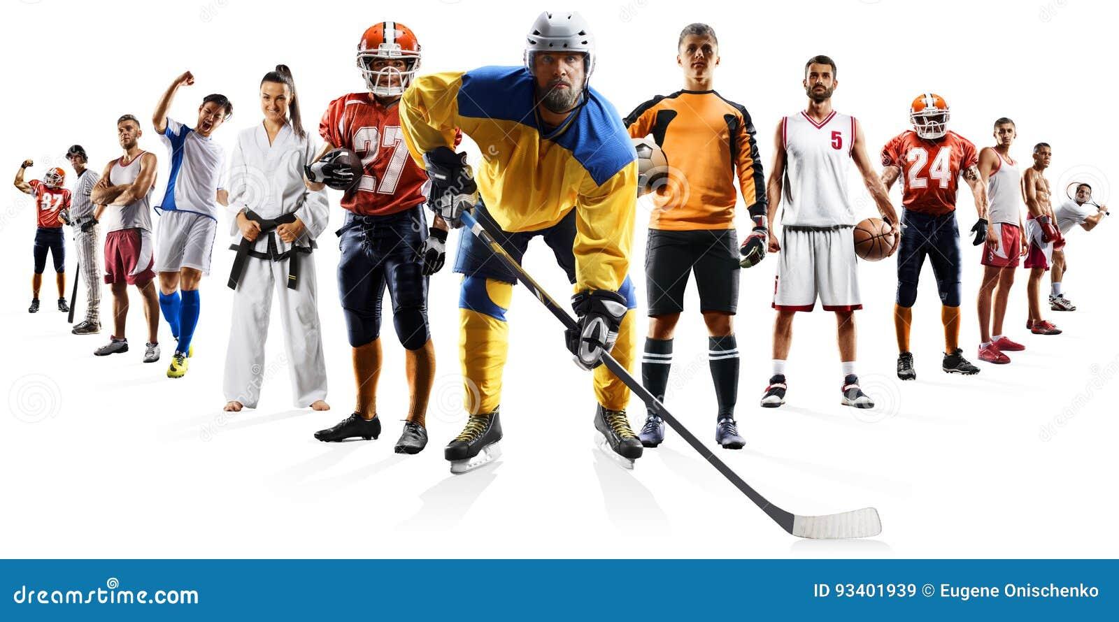 Multi baseball enorme dell hockey di calcio di pallacanestro di calcio del collage di sport che inscatola ecc