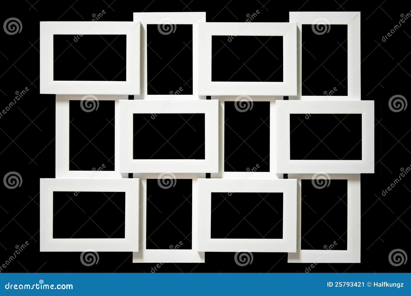 Multi Bilderrahmen. stockbild. Bild von decorate, hintergrund - 25793421