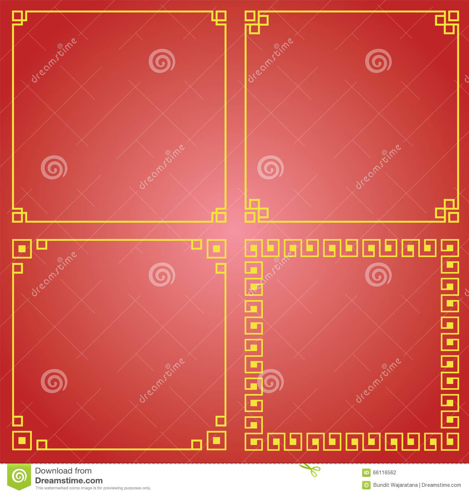 Multi Chinese frame stock illustration. Illustration of corner ...