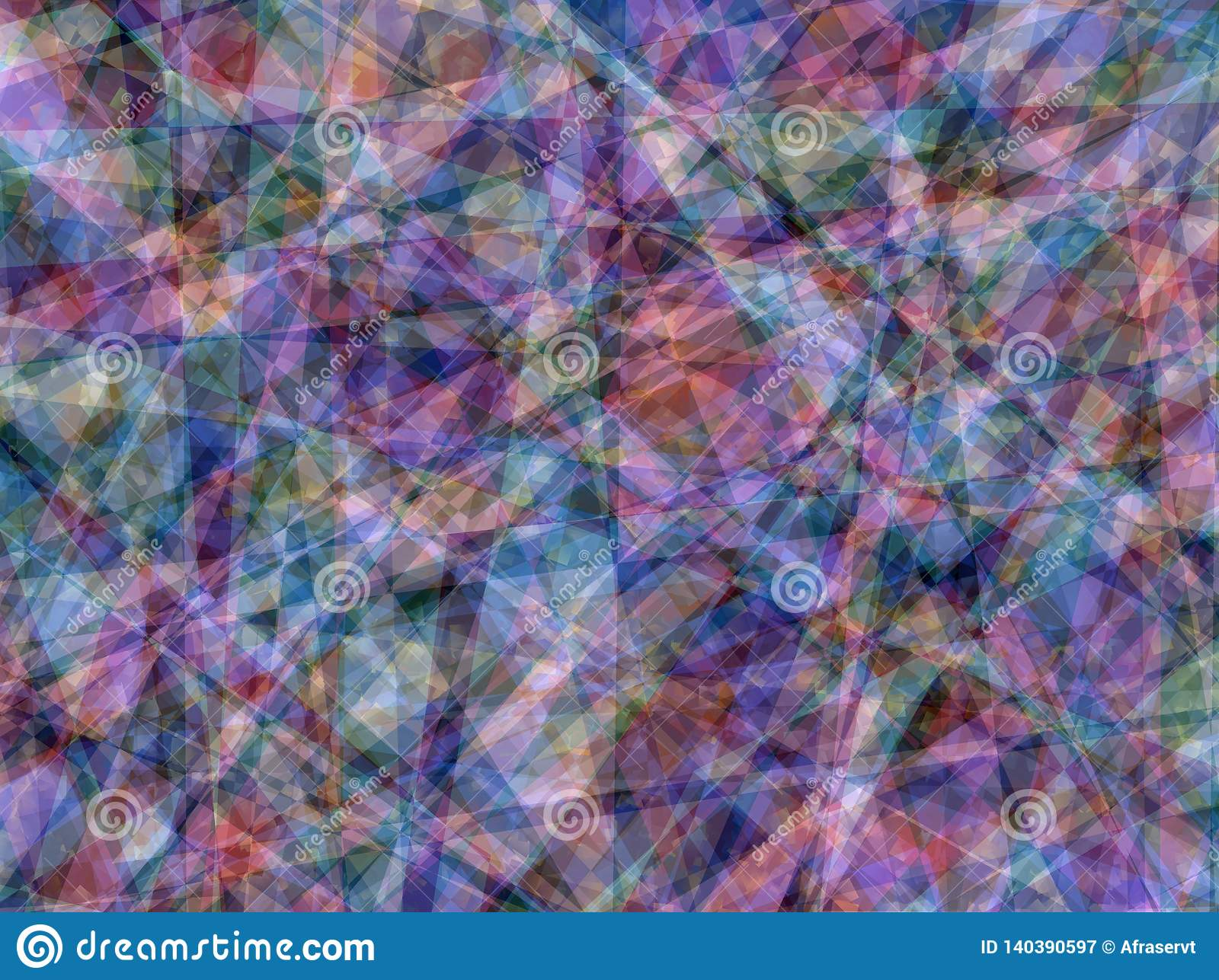 Multi-Color Geometric Abstract Background Texture Wallpaper