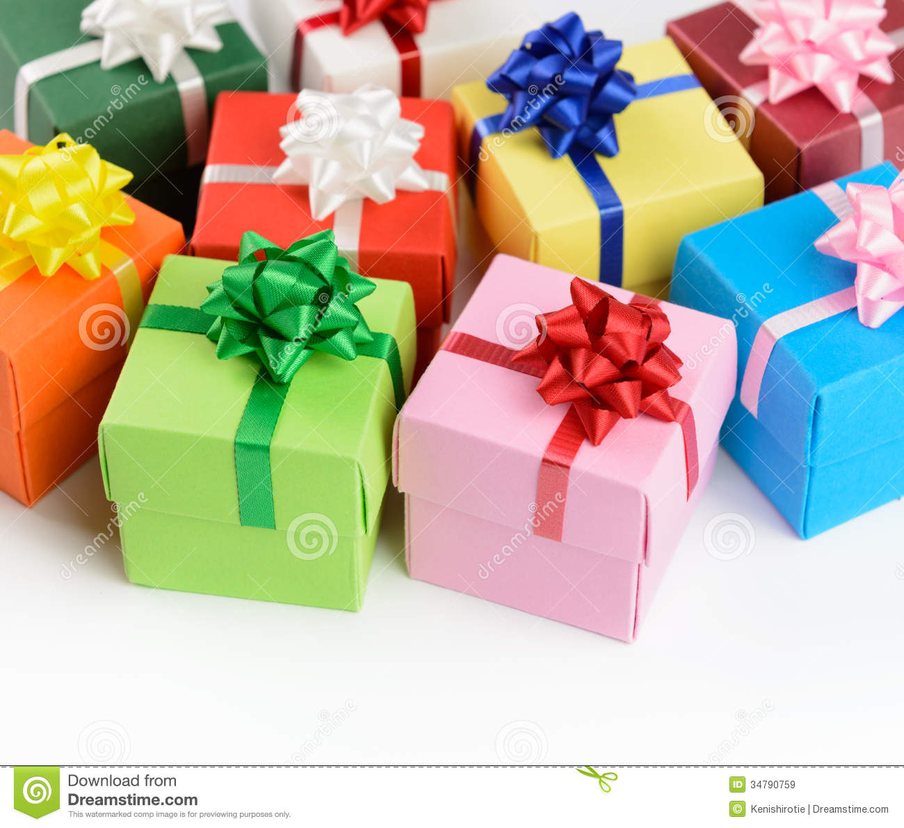 Multi color gift boxes stock image image of variety 34790759 multi color gift boxes negle Gallery