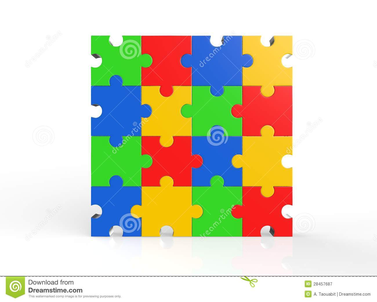 Multi Color Puzzle Royalty Free Stock Photography Image 28457687
