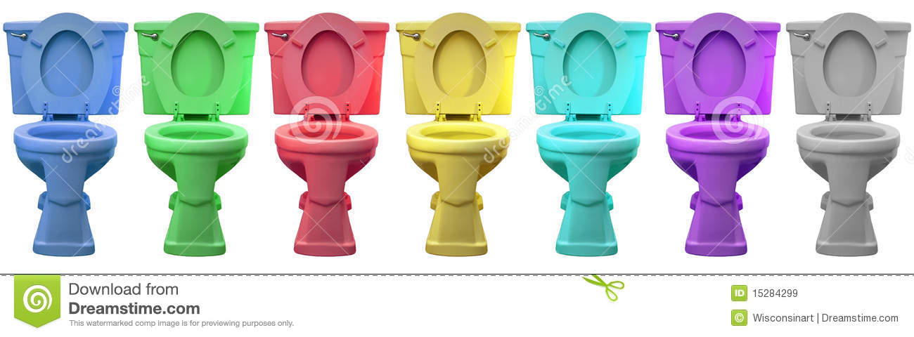 Multi Color Toilet Commode Head Porcelain Throne