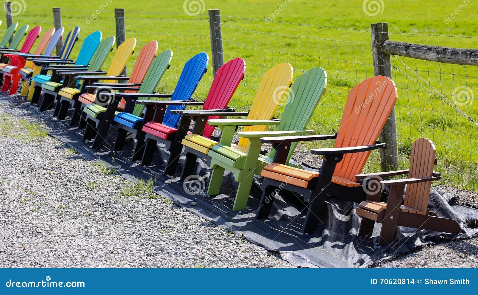 Colorful adirondack chairs - Added Adirondack