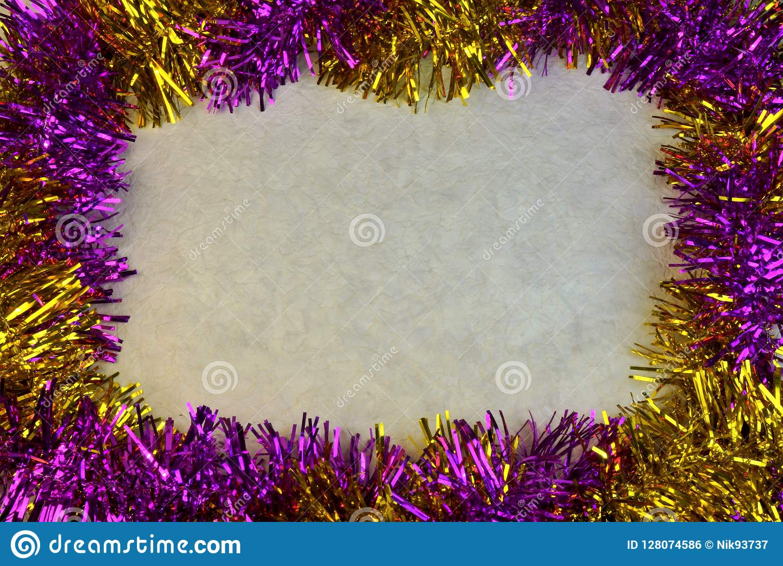 the multi colored background border frame for christmas and new year