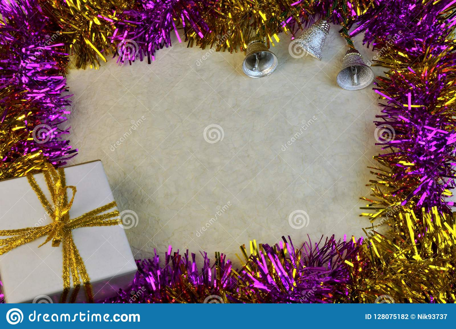 Christmas Graffiti Background.The Multi Colored Background Border Frame For Christmas And