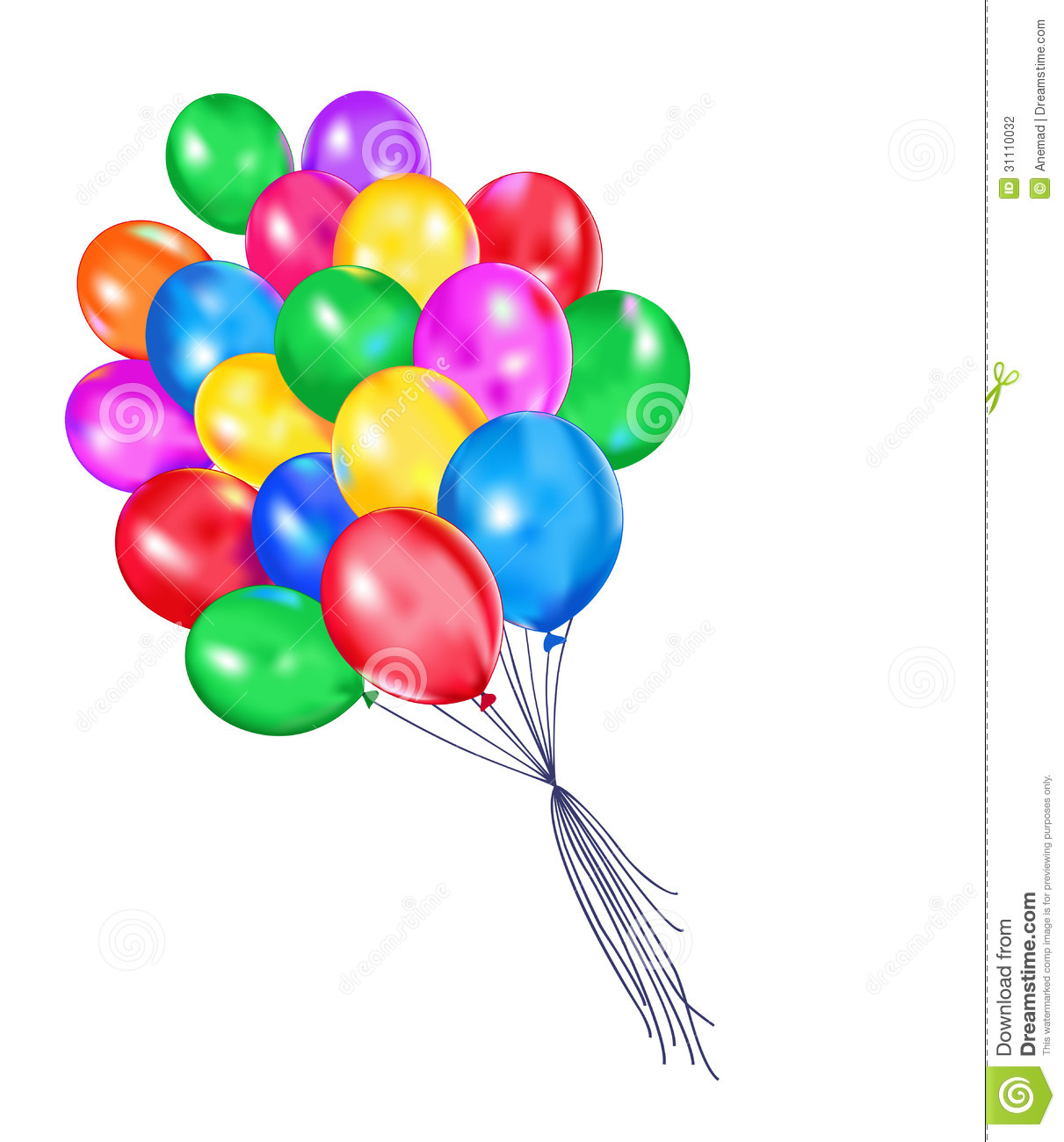 Multi-colored Balloons Stock Photography - Image: 31110032
