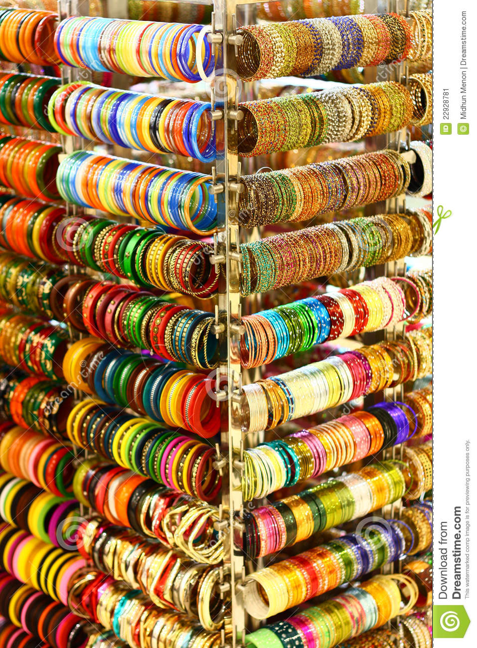Multi Colored Bangles From India Stock Image Image 22928781