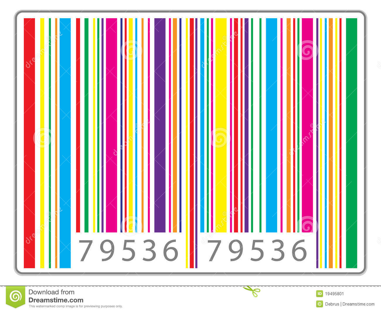 Fereditions31 Codigos De Barra Png: Multi Colored Barcode Stock Vector. Illustration Of Multi