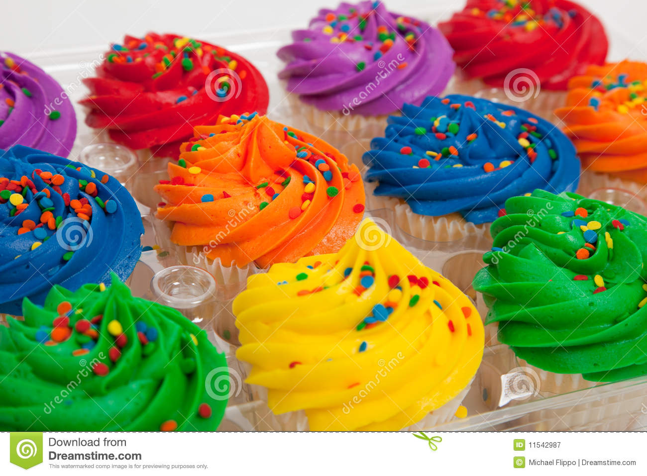 how to make multi colored cupcakes