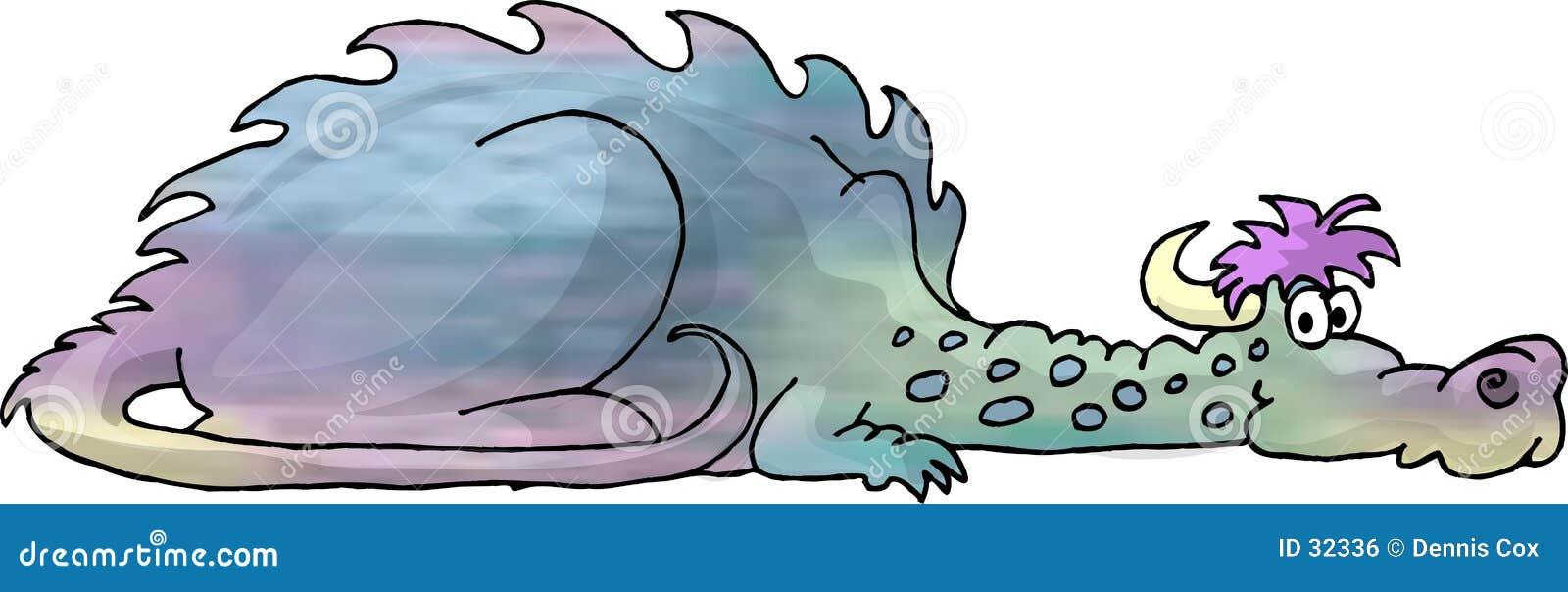 Multi-colored dragon