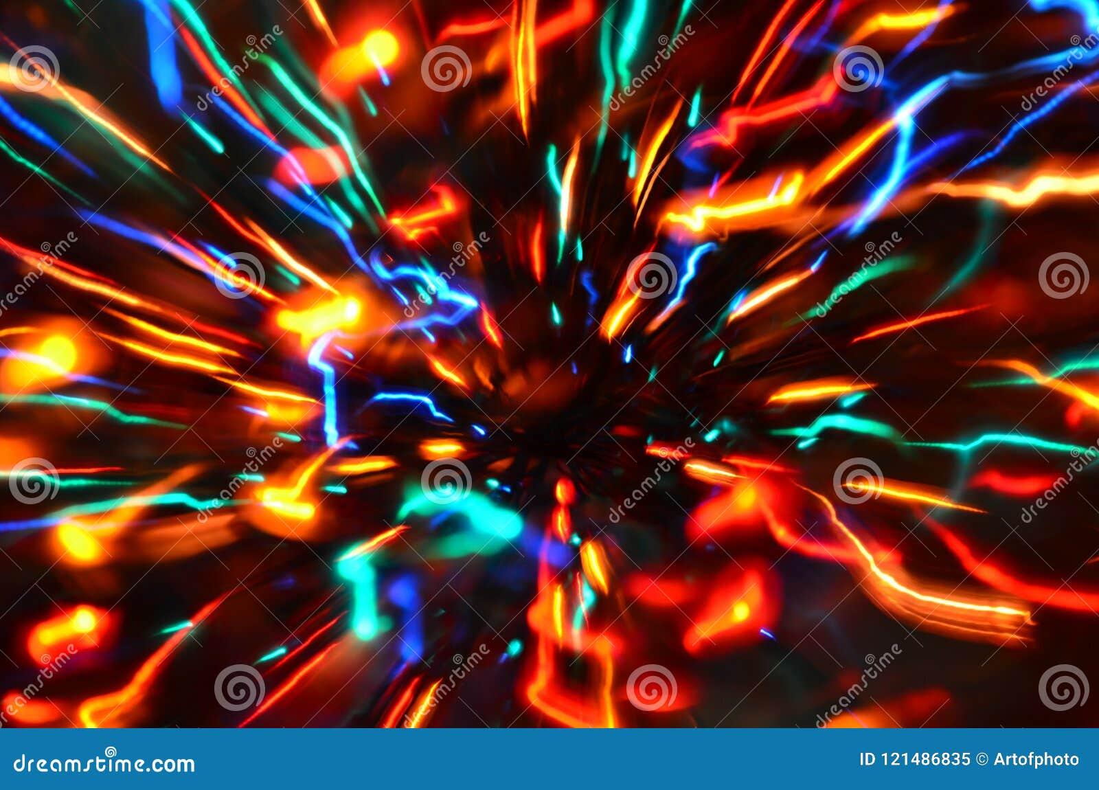 Multi-colored explosie van lichten